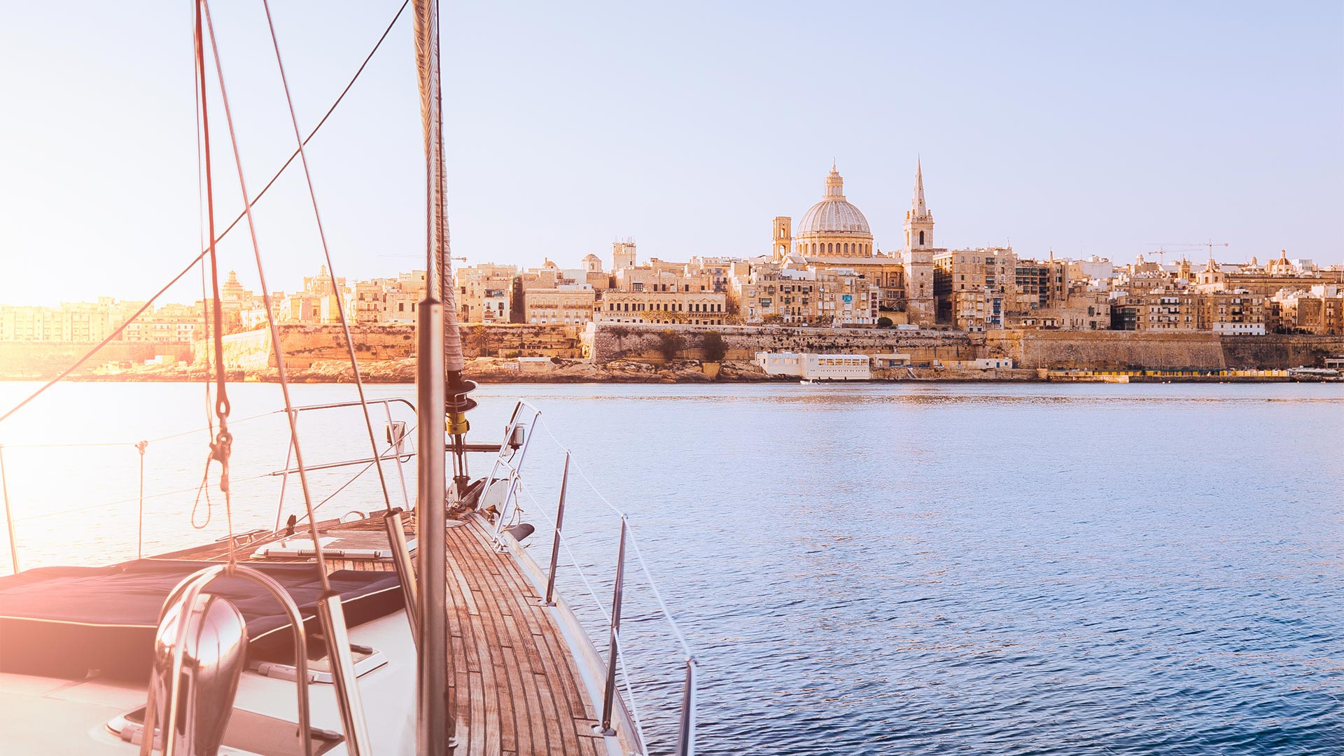 The harbour at Valletta, Malta