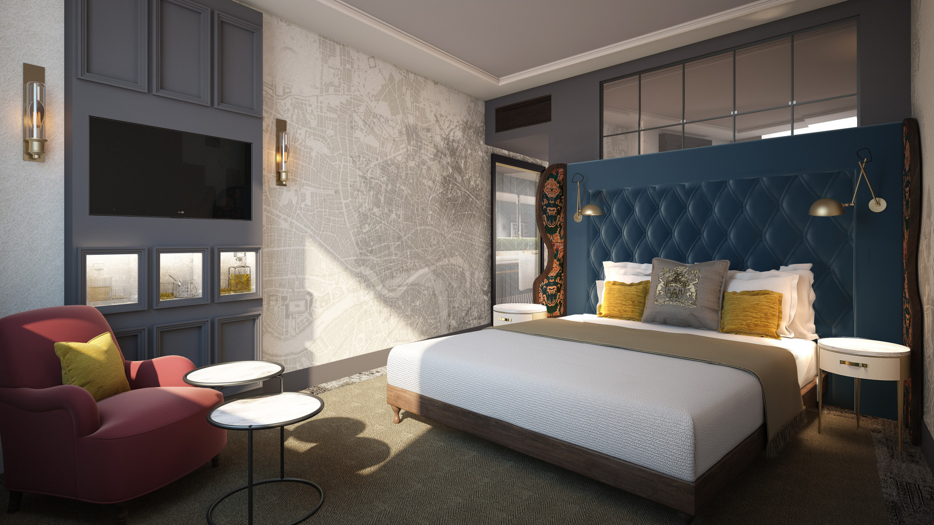 Guestroom design at the Vintry & Mercer hotel