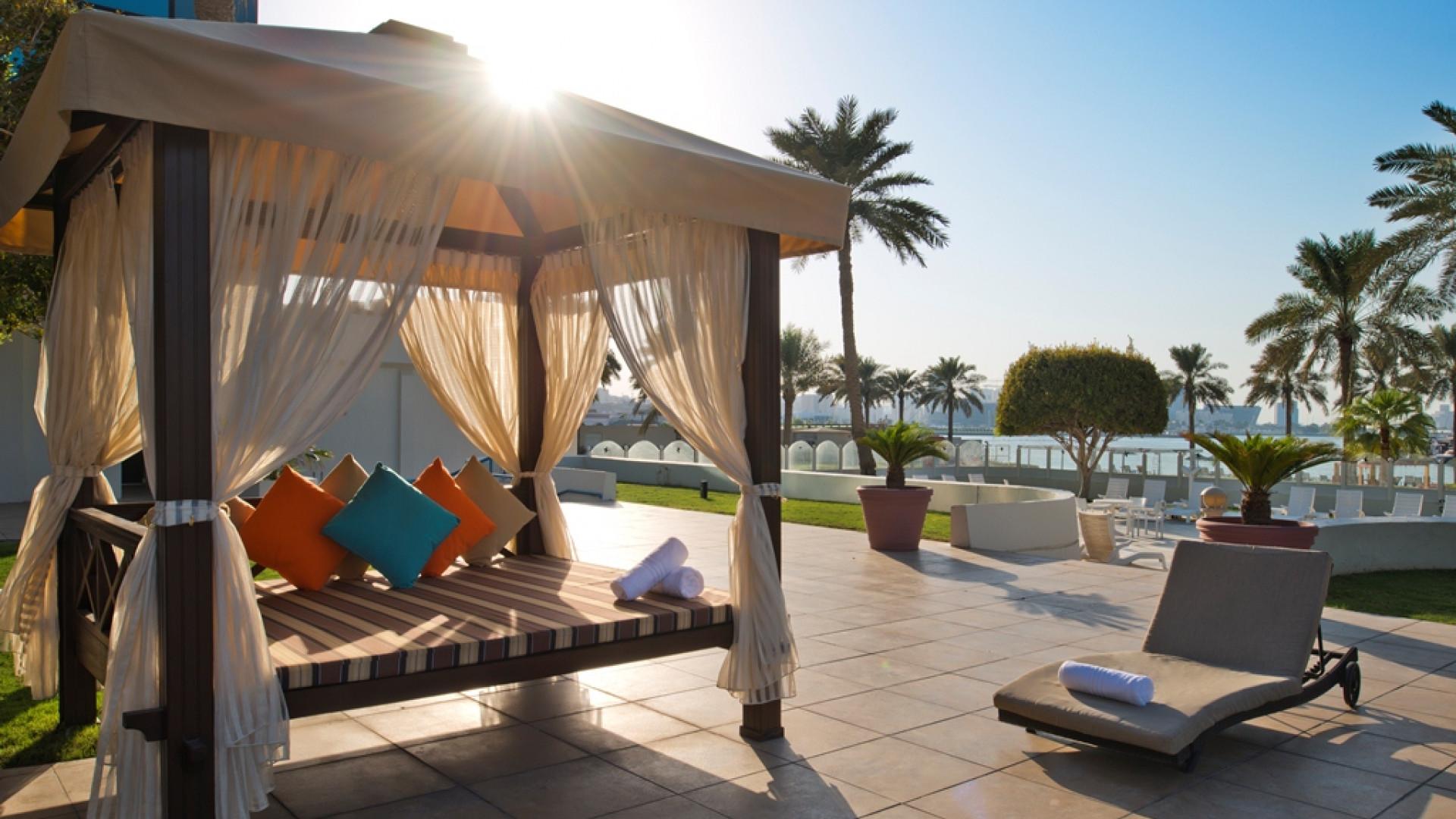 Cabanas at Doha Marriott hotel, Qatar