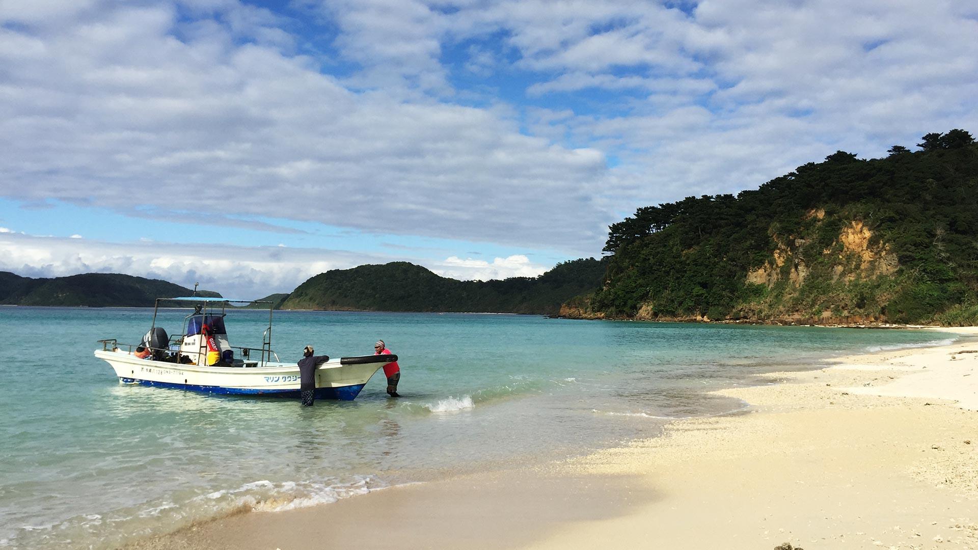 One of Iriomote Island's stunning beaches
