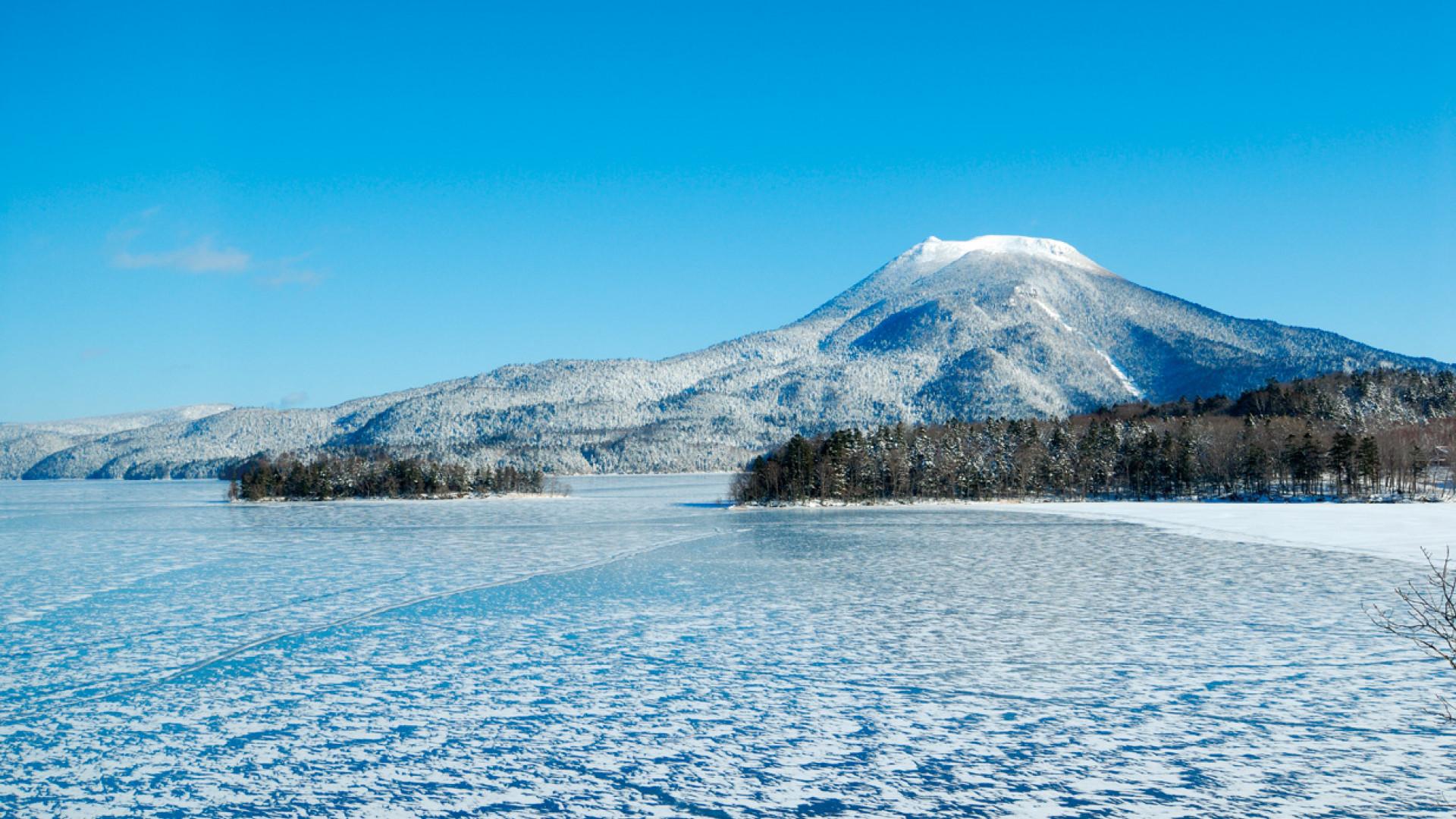 Frozen waters in mountainous Eastern Hokkaido, Japan