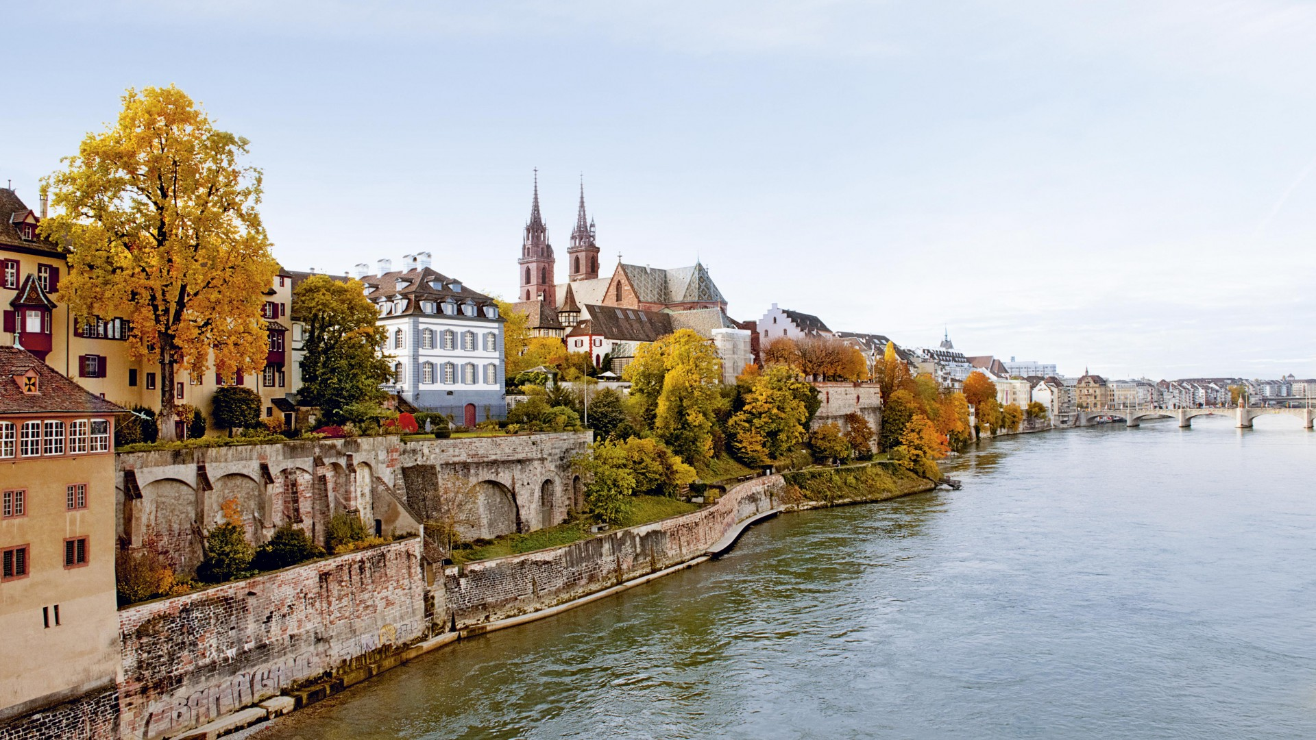 Basel sits on the Rhine on the Swiss border with France and Germany