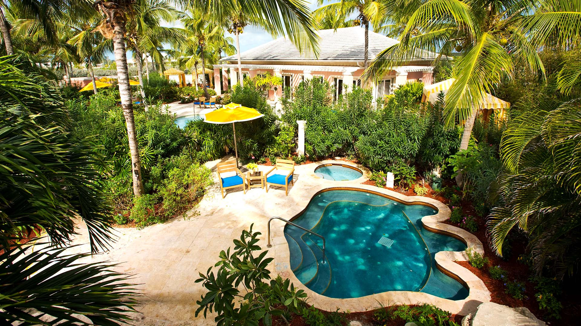 A private pool at Sandals Emerald Bay, The Bahamas