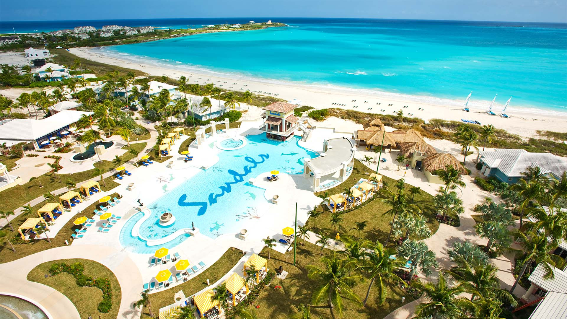 The Sandals Emerald Bay resort in The Bahamas