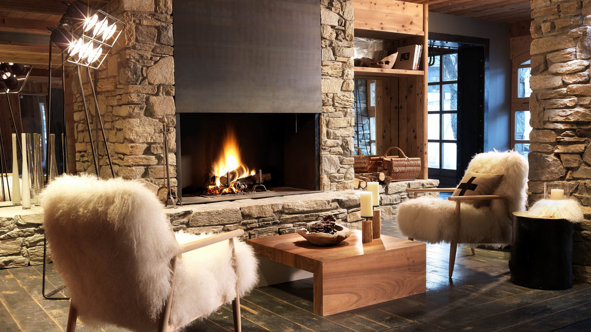 Interior at M de Megeve, French Alps