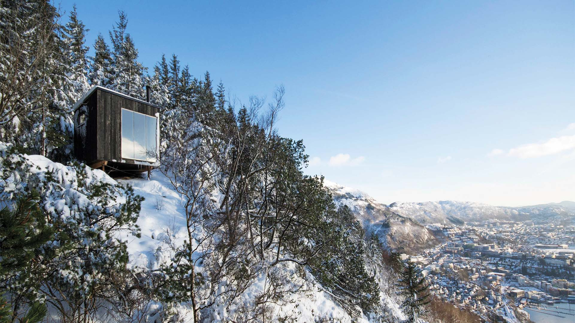 Tubakuba, a free-to-stay-at house on a mountain overlooking Bergen, Norway
