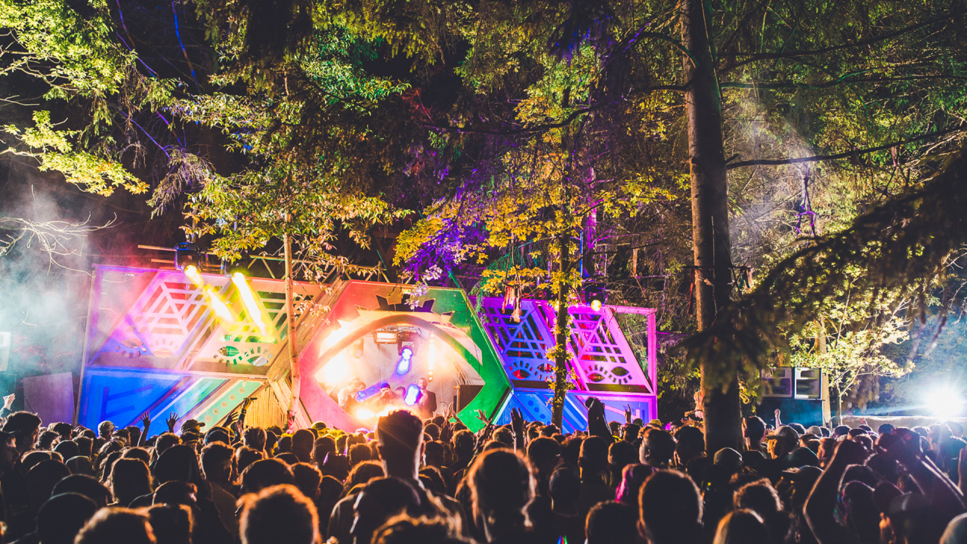 A stage at Farr Festival