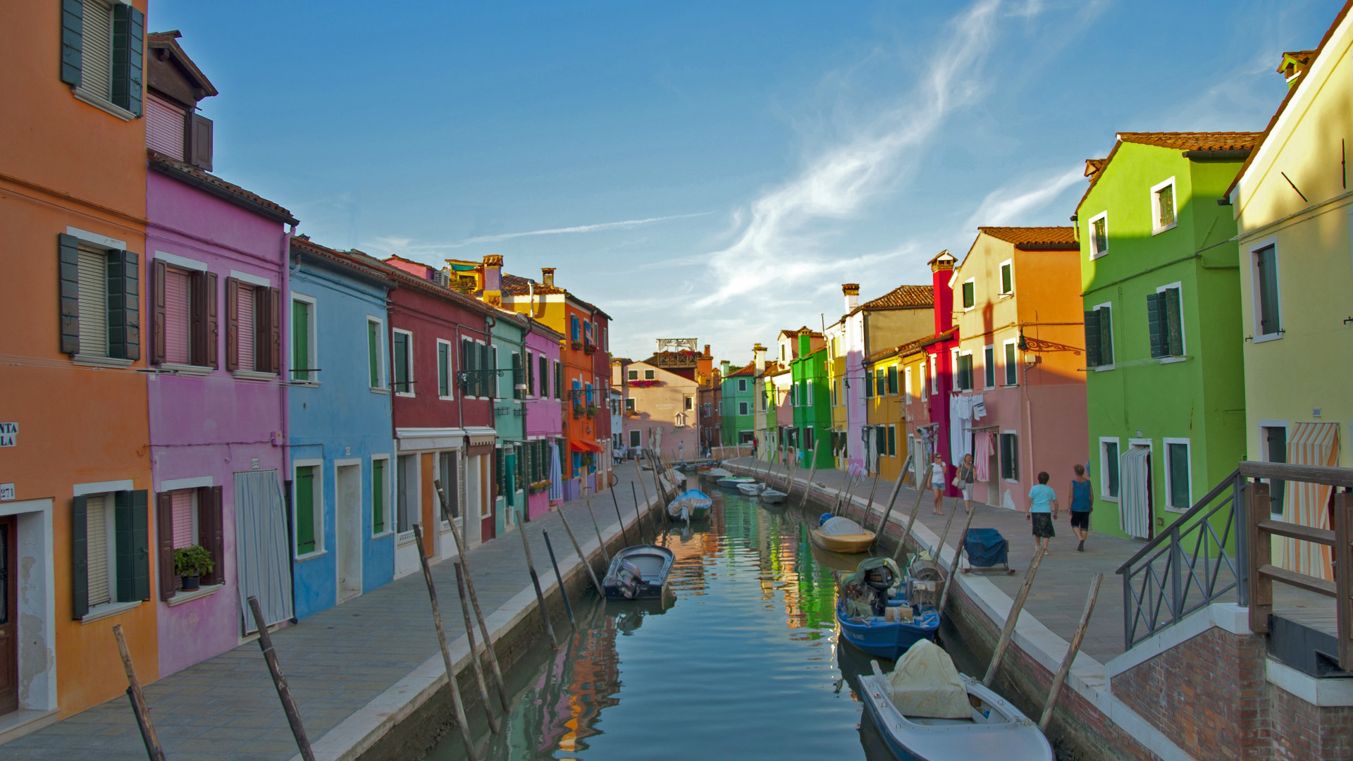 Houses in Burano, Venice Lagoon, Italy