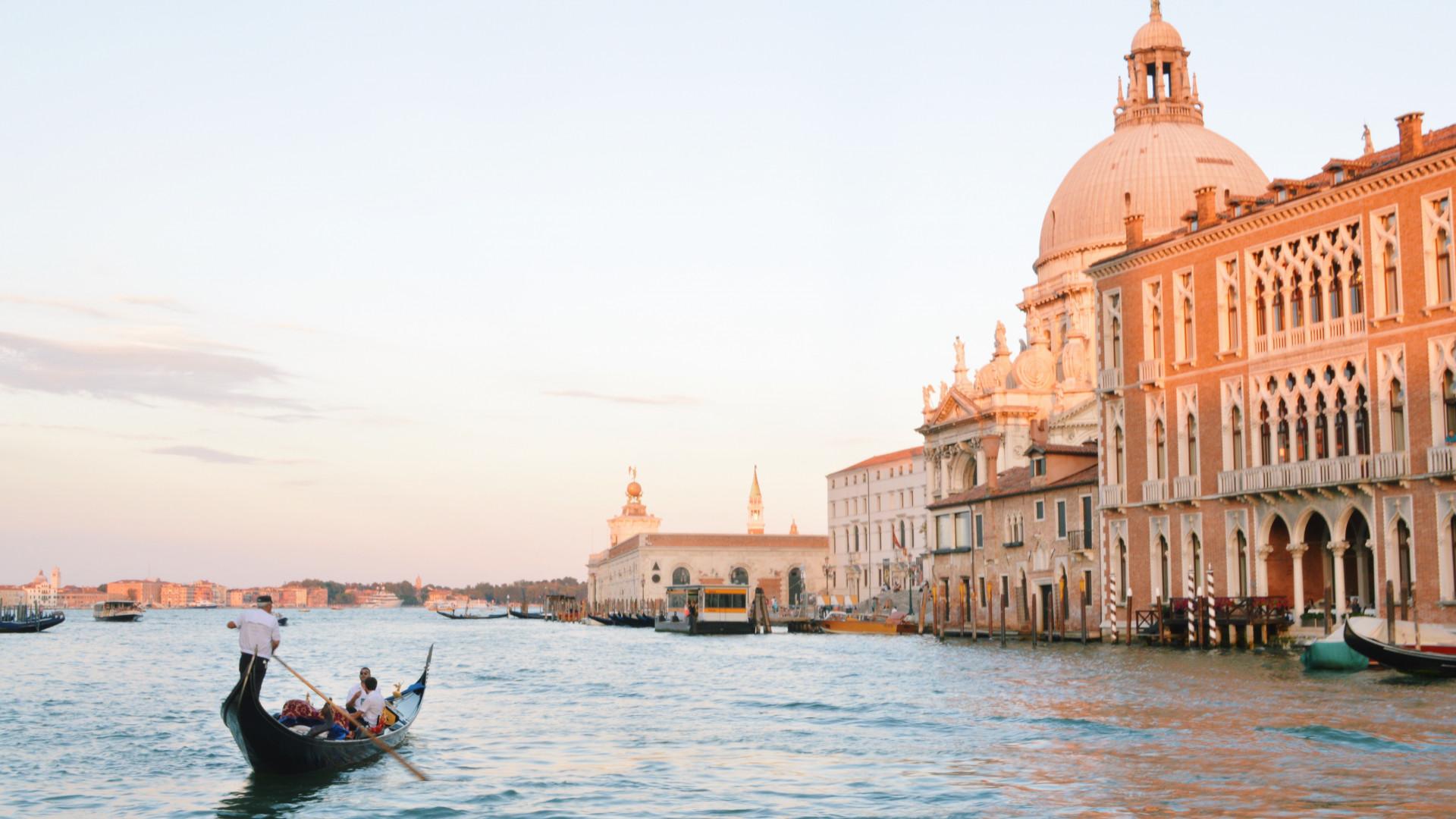 Gondola on Venice's Grand Canal