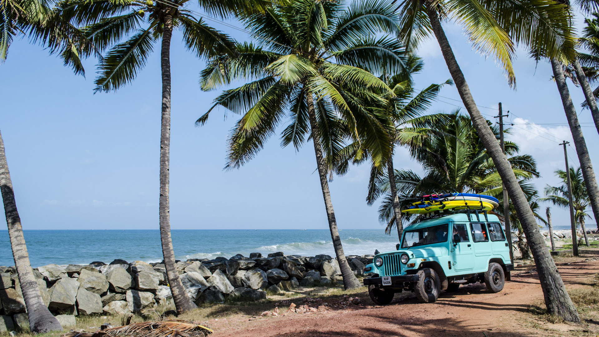 Beautiful surrounds at Soul & Surf in Kerala, India