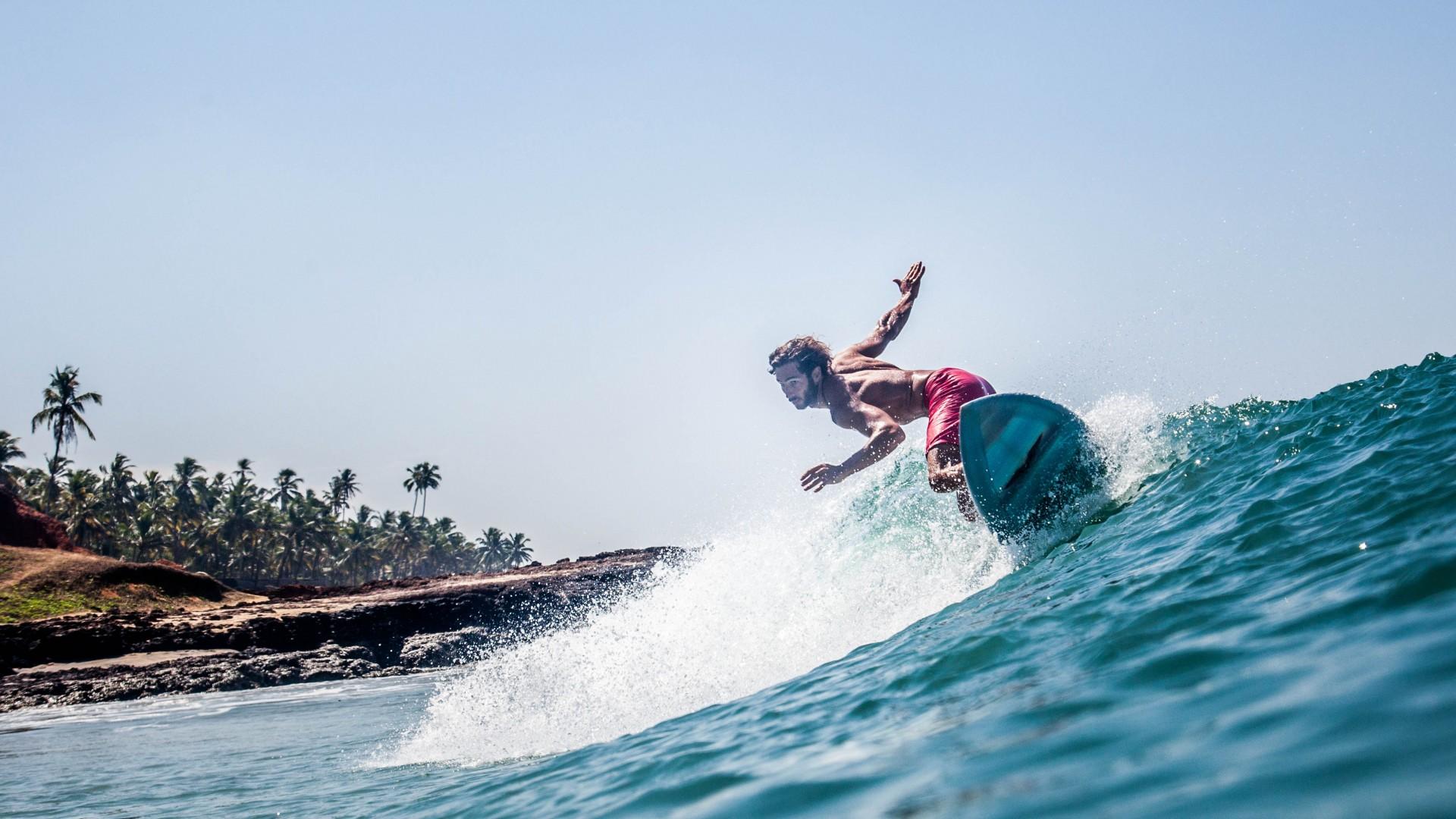 A surfer at Soul & Surf