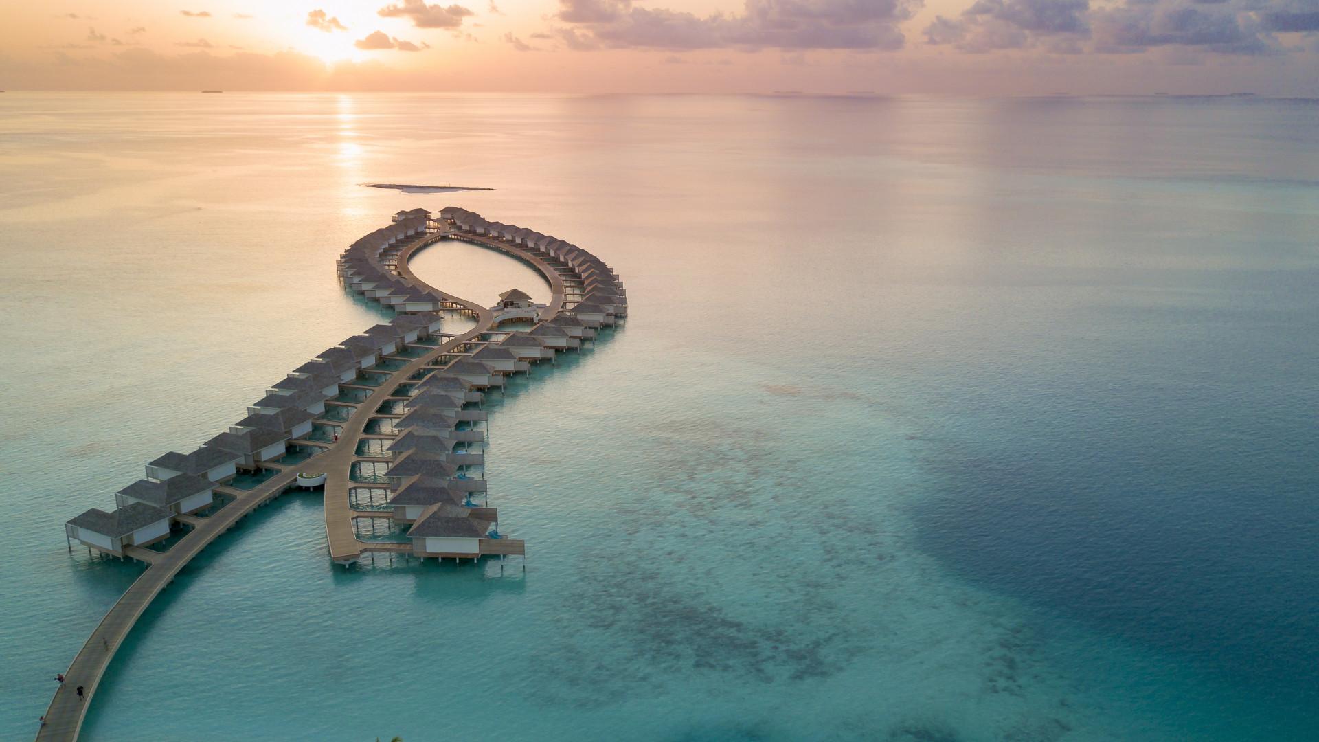 Aerial view of Kandima Maldives