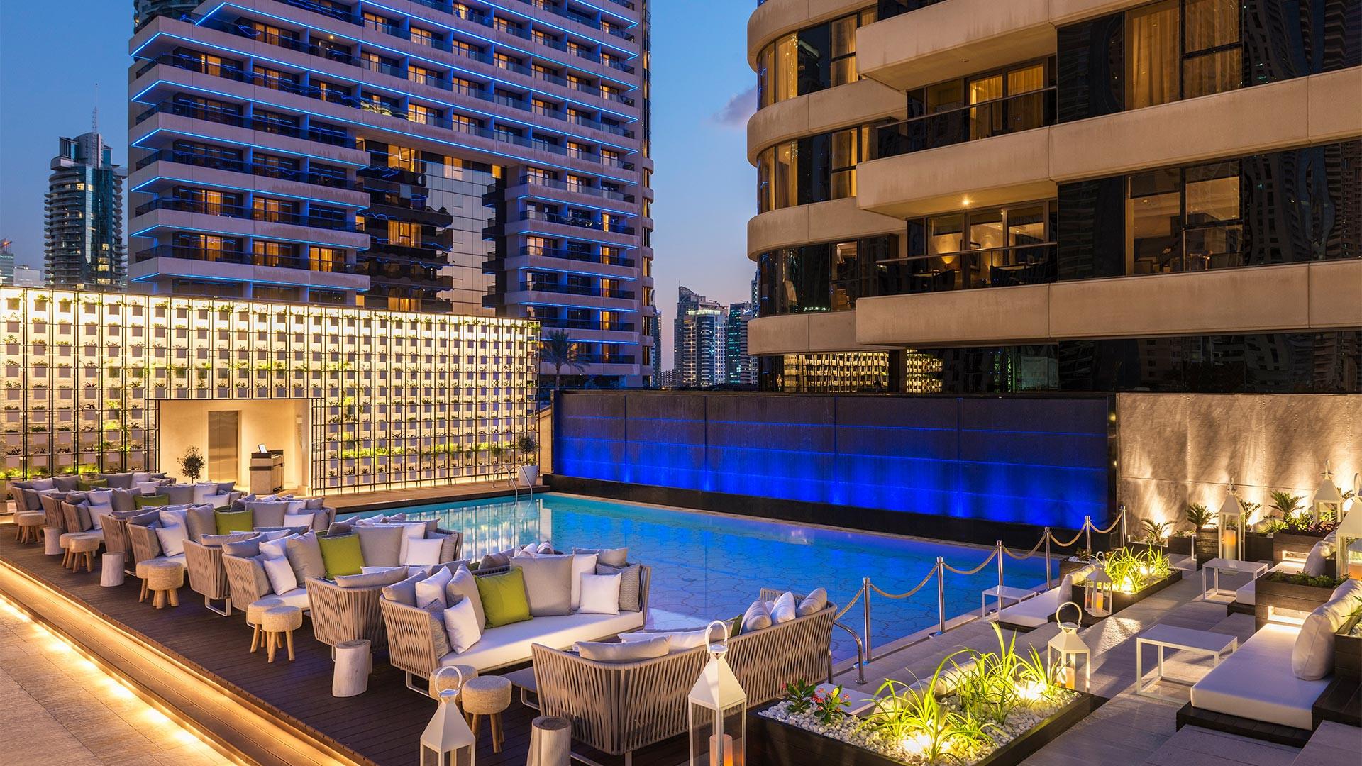 The stunning pool at Grosvenor House Dubai