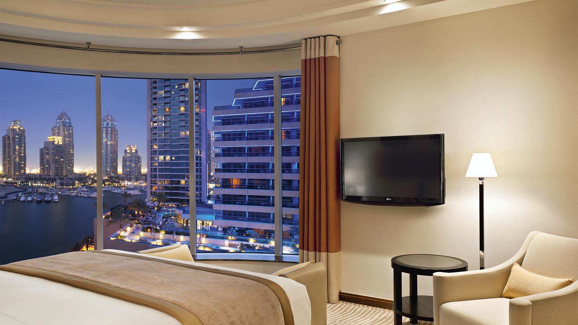 Inside a luxurious room at Grosvenor House Dubai