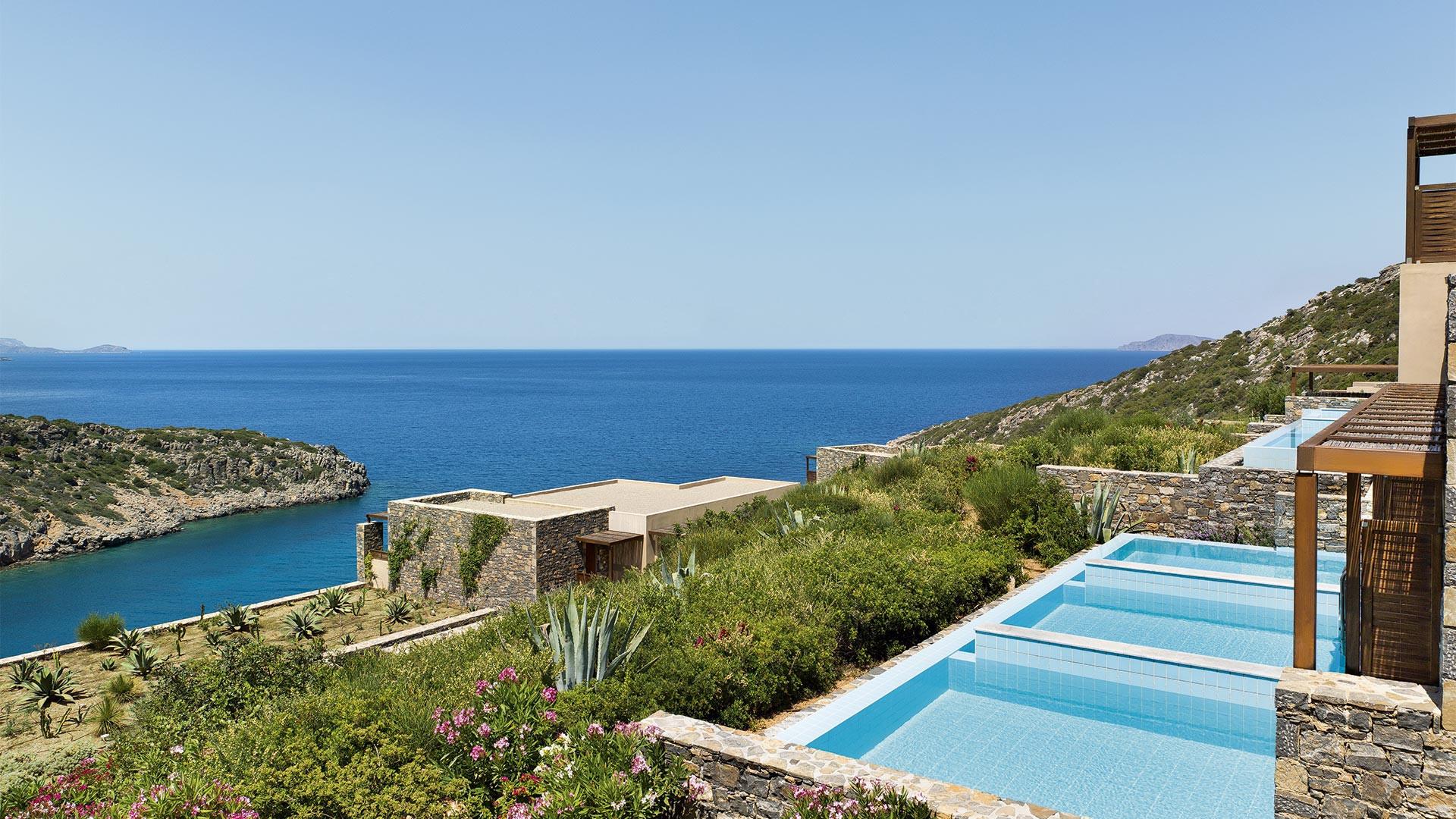 Swimming pools at Daios Cove, Crete