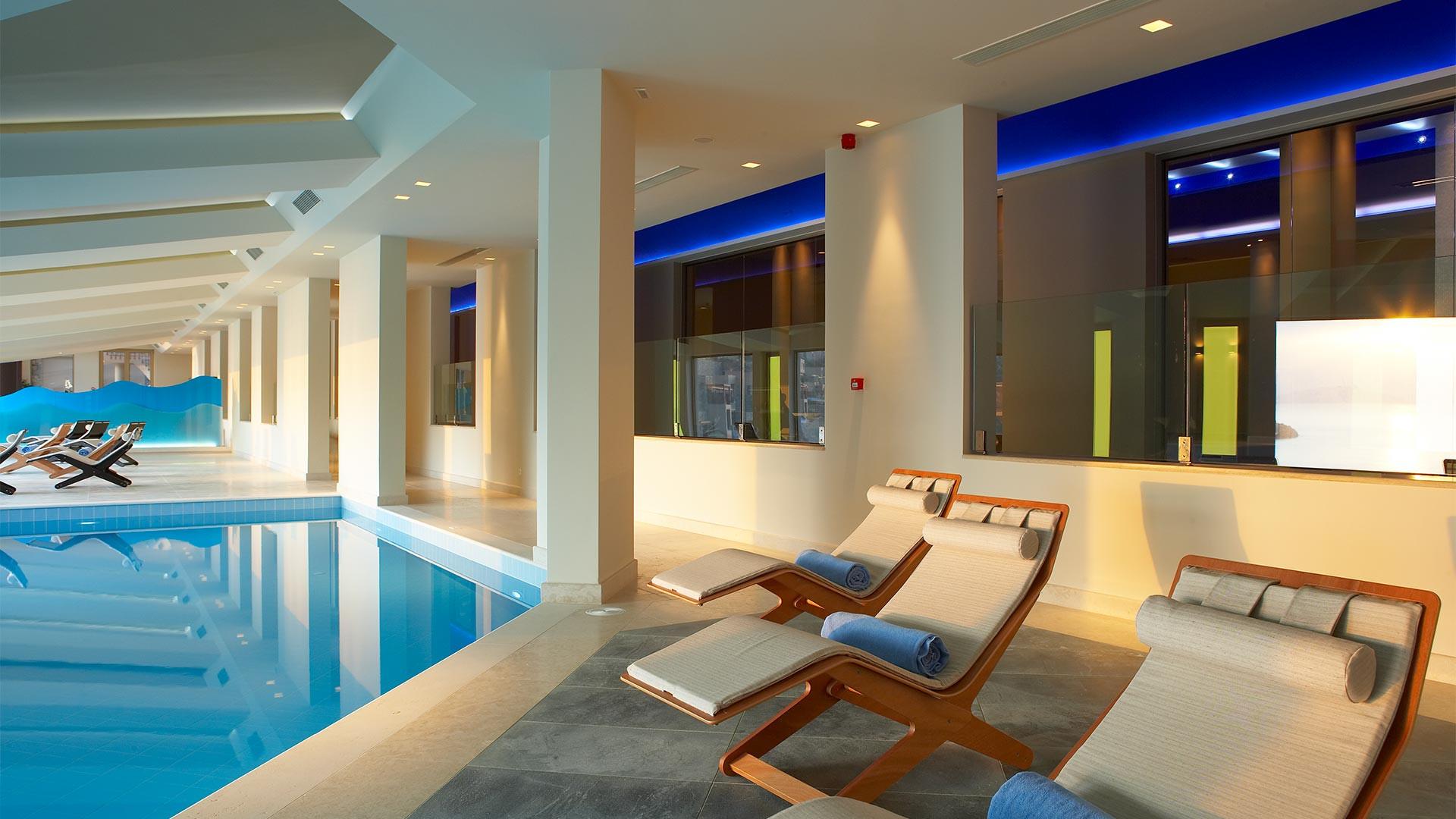 The spa at Daios Cove