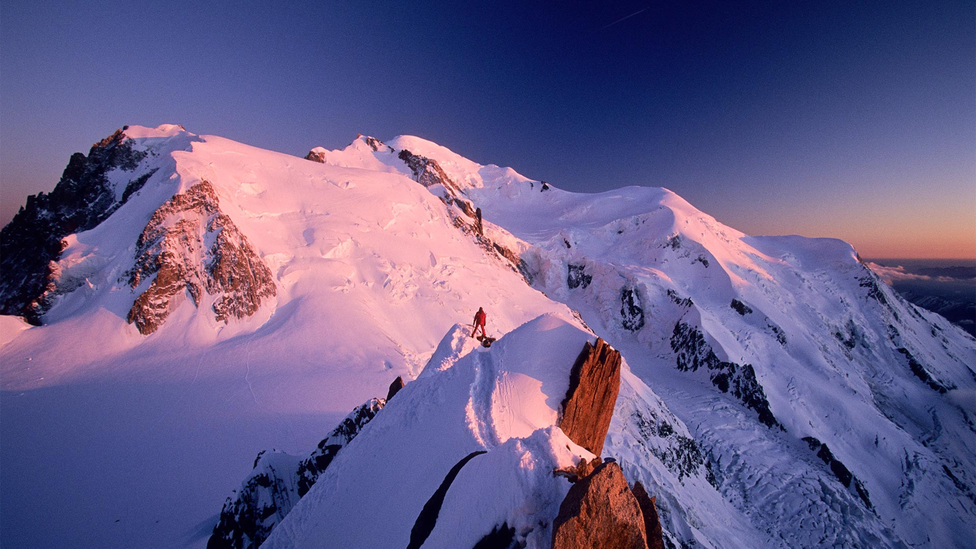 Mountaineering near Chamonix, France
