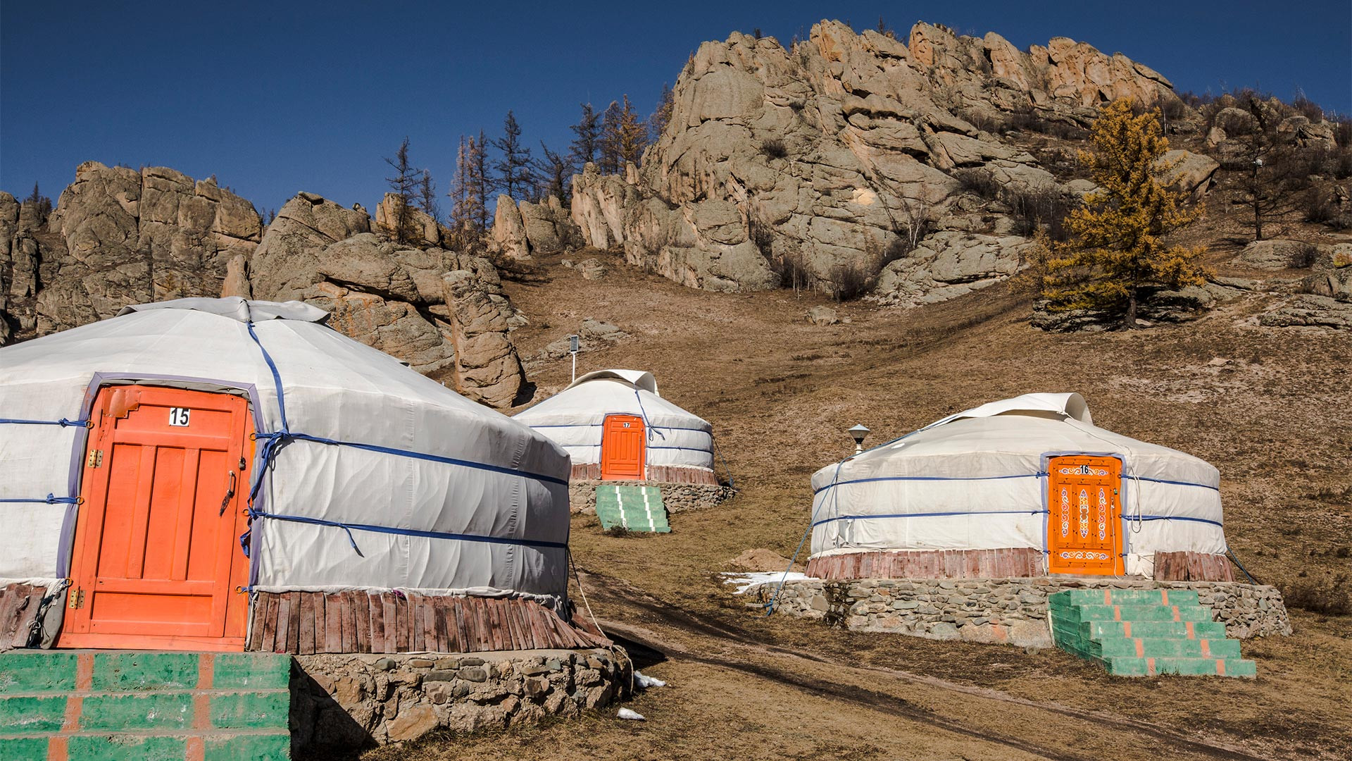 Yurts in Mongolia on a G Adventures Nomadic Living tour
