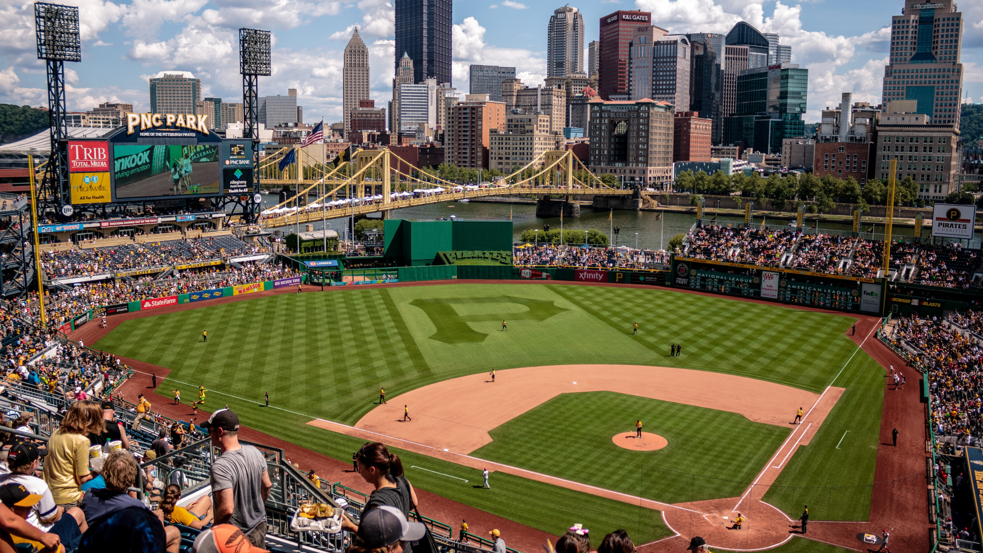 View from the PNC Park in Pittsburgh on a matchday