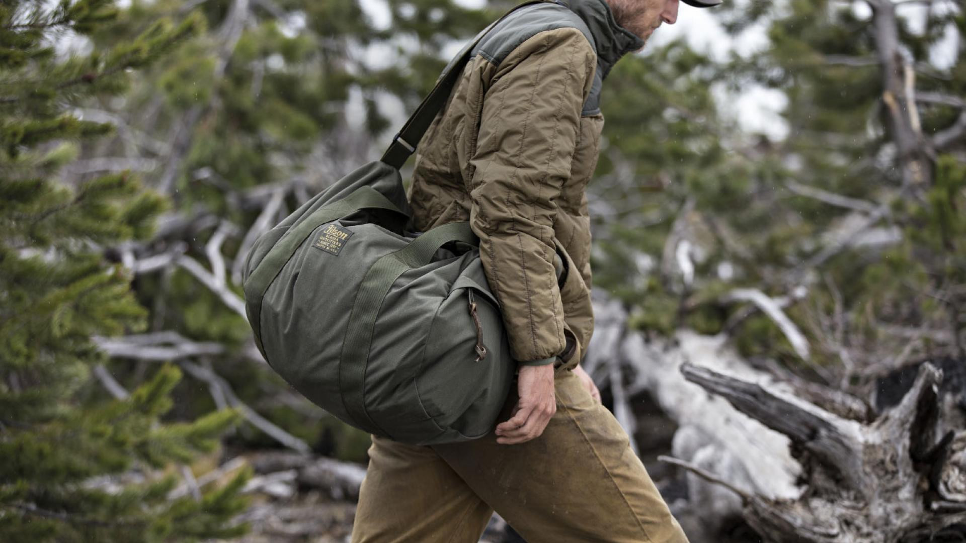 The Filson ballistic nylon barrel pack and the ultra-light jacket
