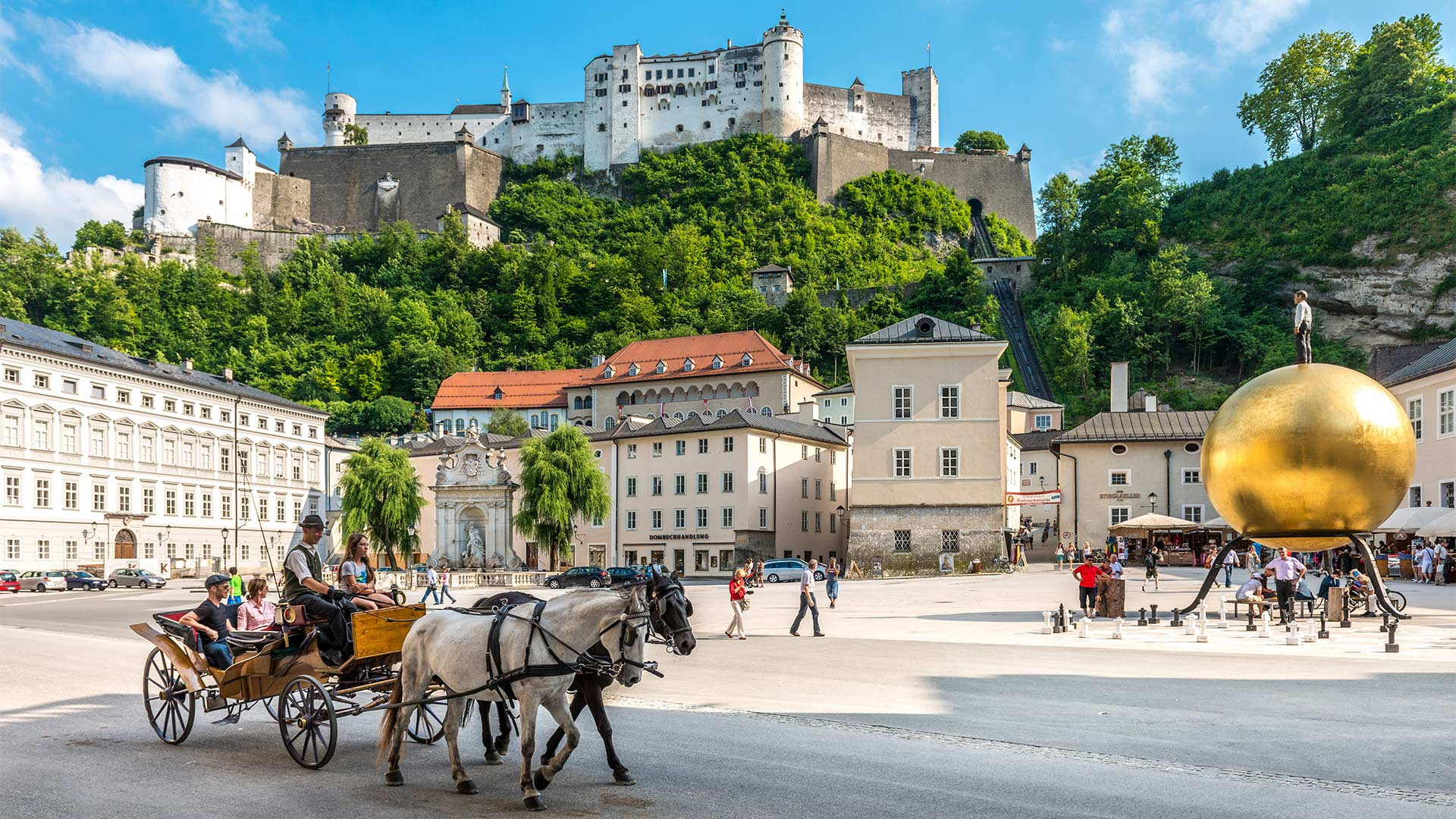 A horse carriage ride through Salzburg, Austria
