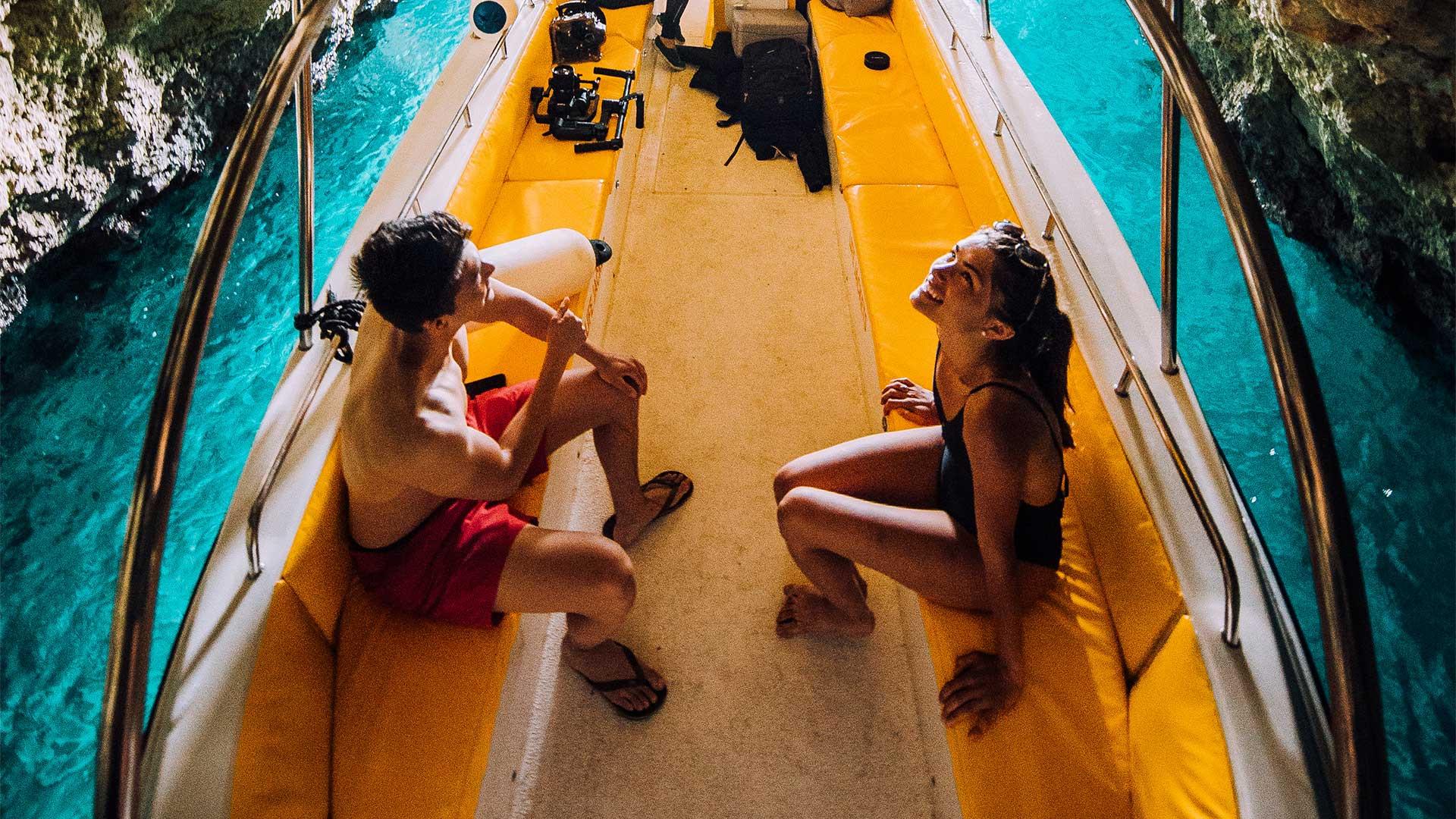 Cave boat tour, Malta