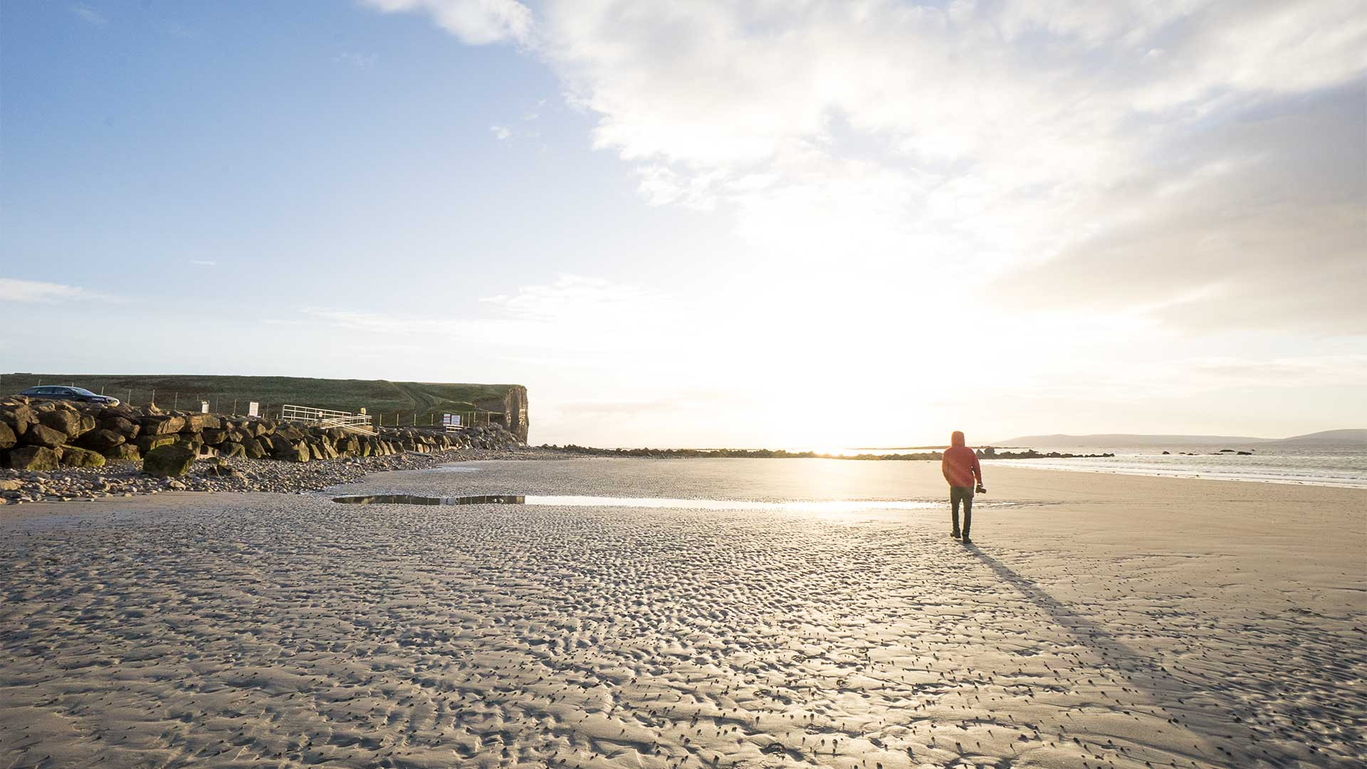 Bay Coast beach, Galway, Ireland