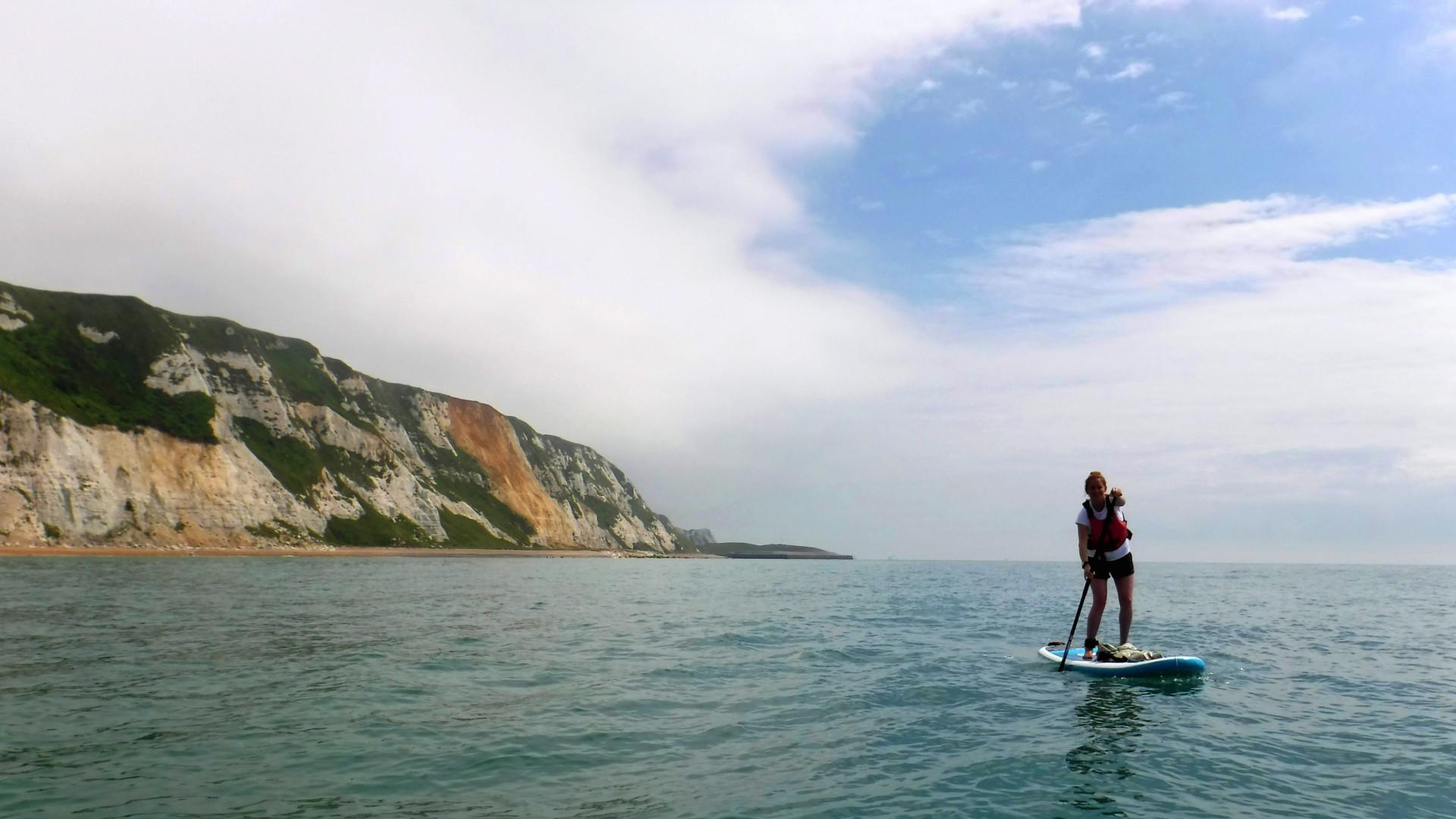 Paddleboarding on the Kent Coast