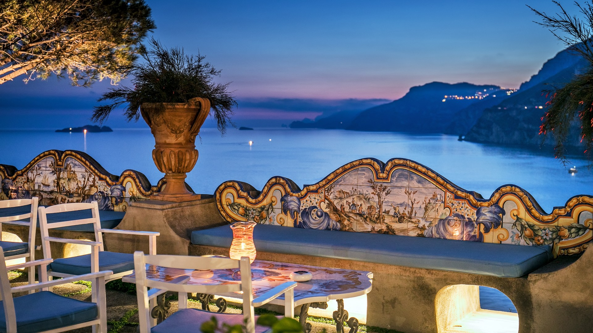 Terrace at Il San Pietro luxury resort, Italy