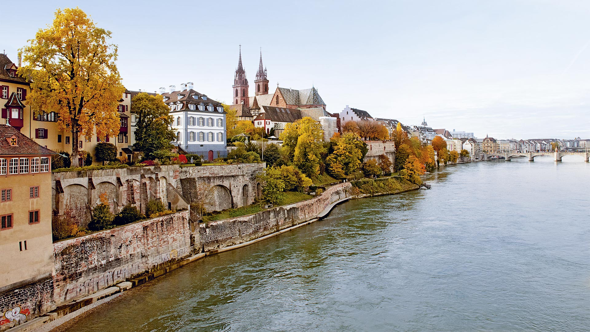View of Basel old town across the Rhine