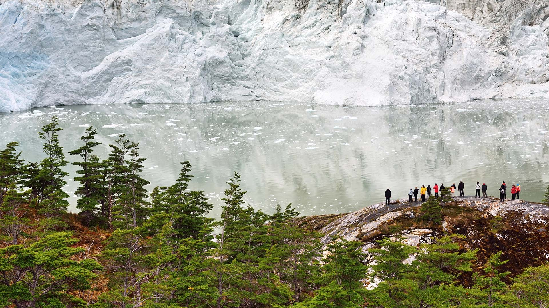 Garibaldi glacier in Tierra del Fuego, Patagonia