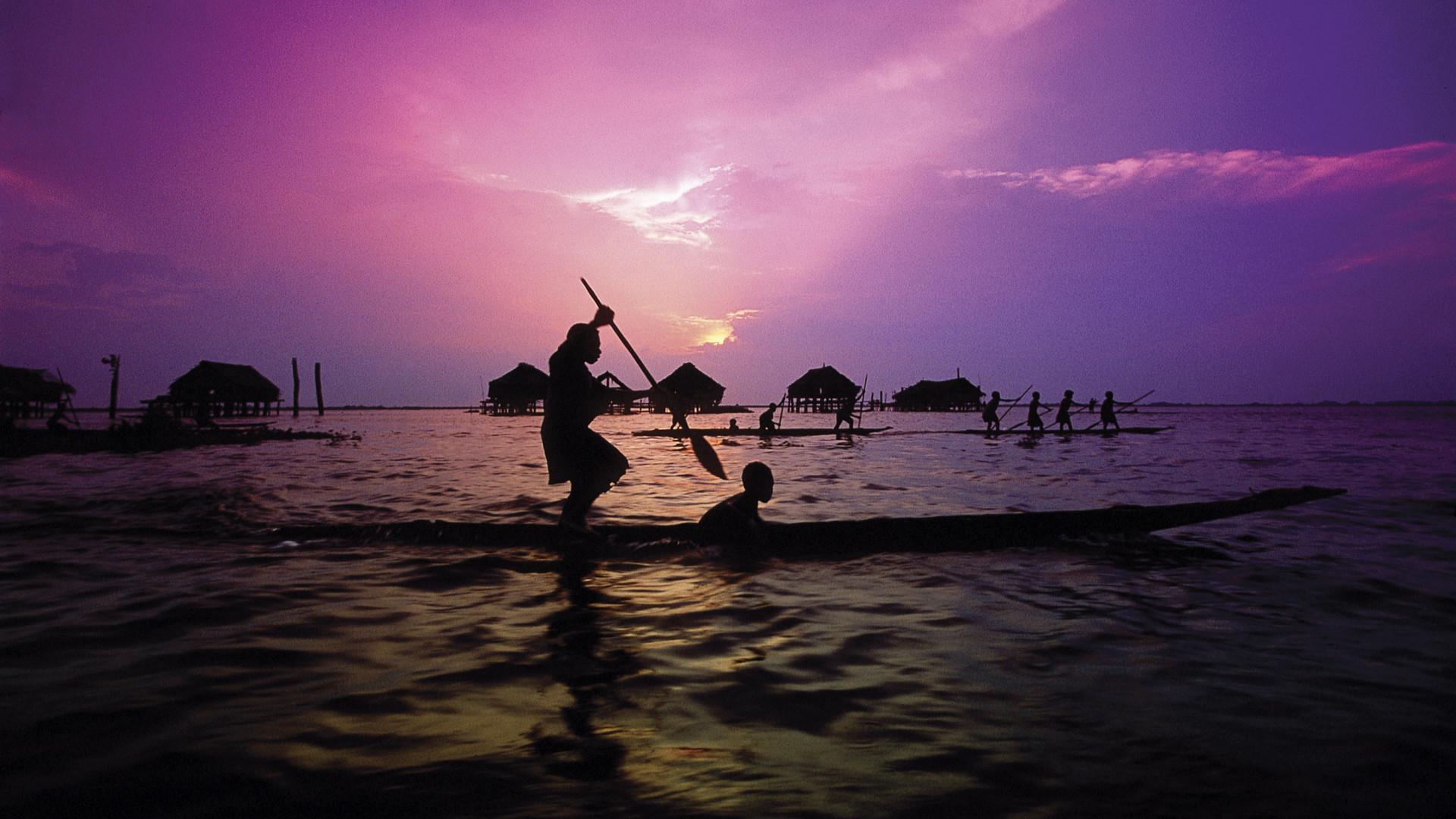Sunset on the Sepik