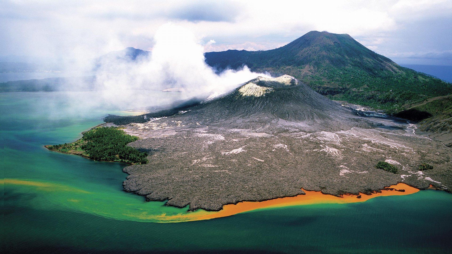 Rabaul Volcano in East New Britain