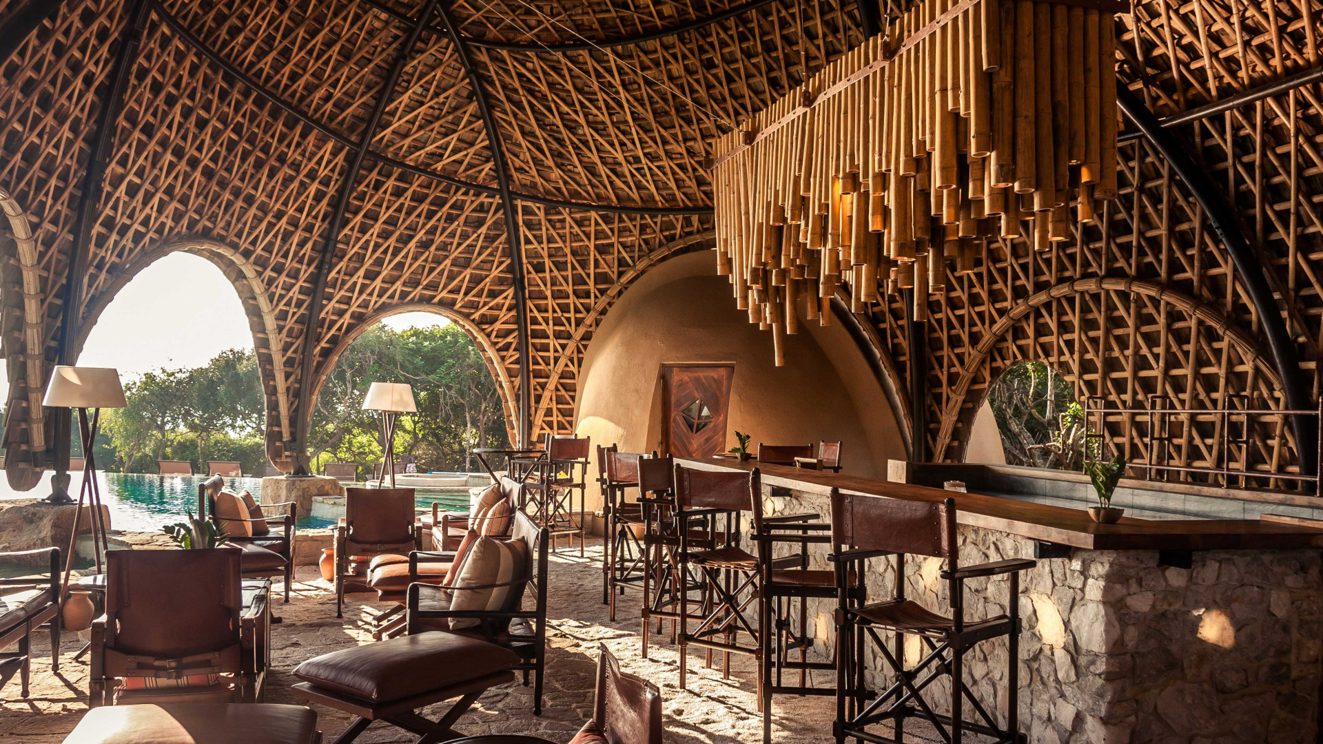 The dining room at Wild Coast Tented Lodge