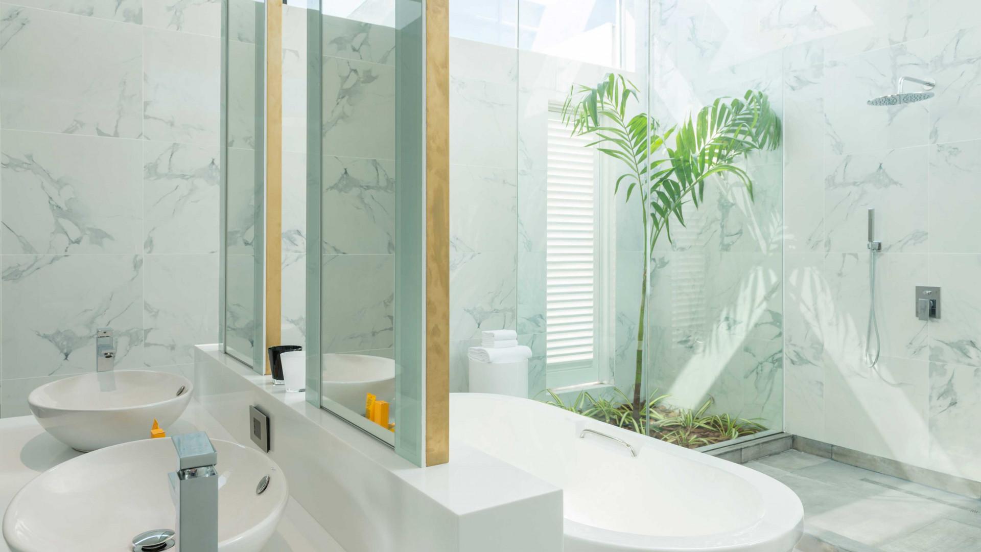 Bathroom at Zaya Nurai island resort, Abu Dhabi, UAE