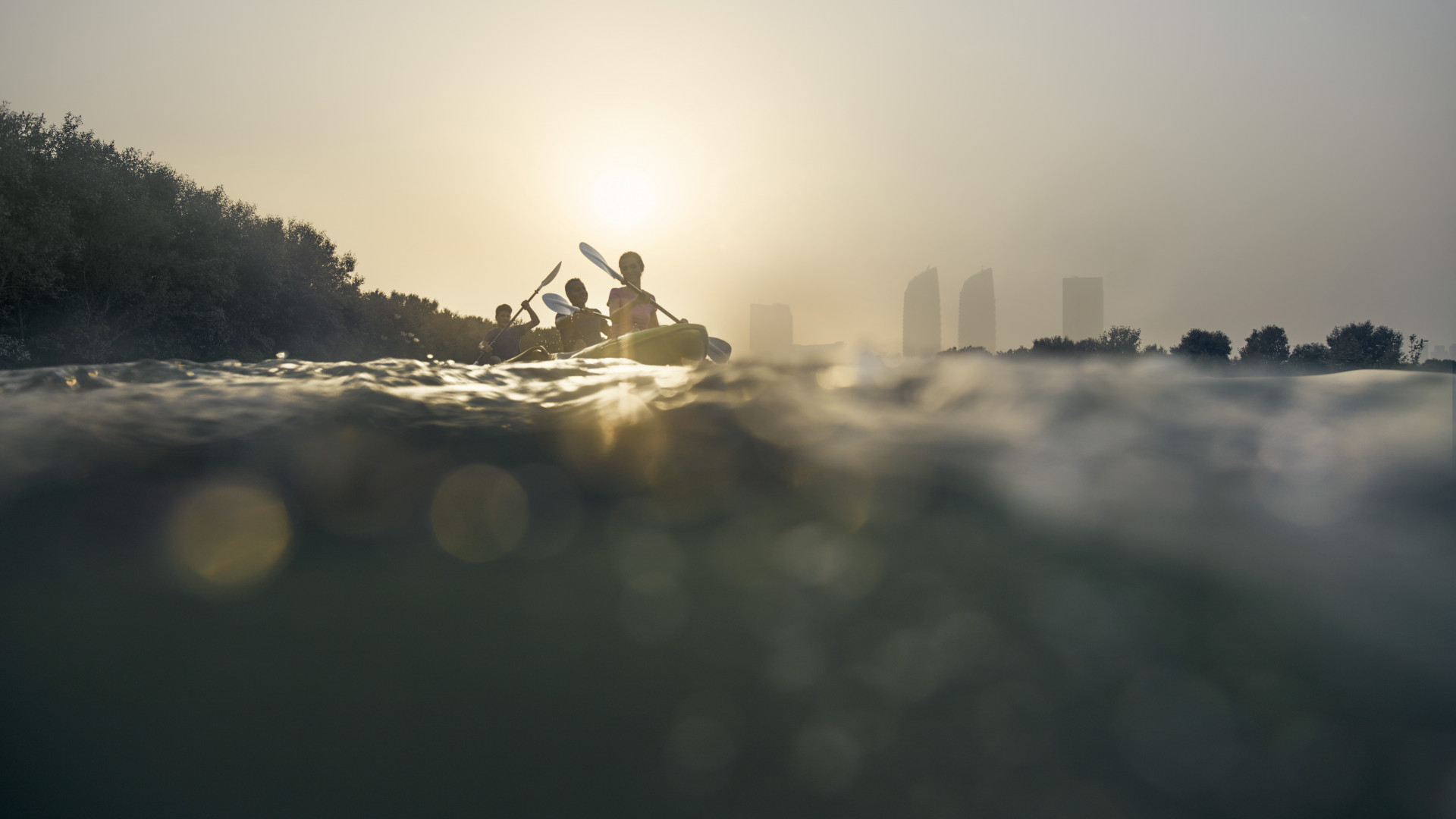 Kayaking in Abu Dhabi's East Mangrove National Park