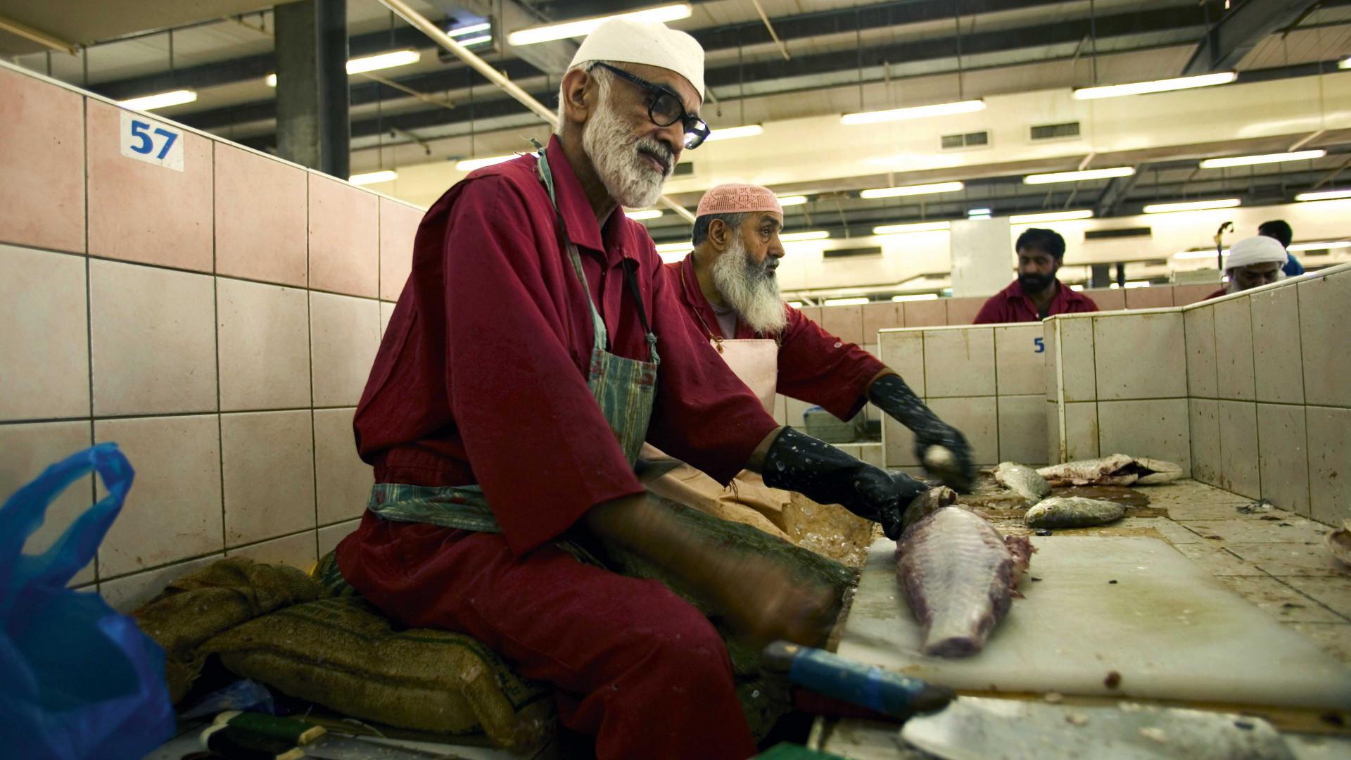 Al Mina fish market in Abu Dhabi, UAE