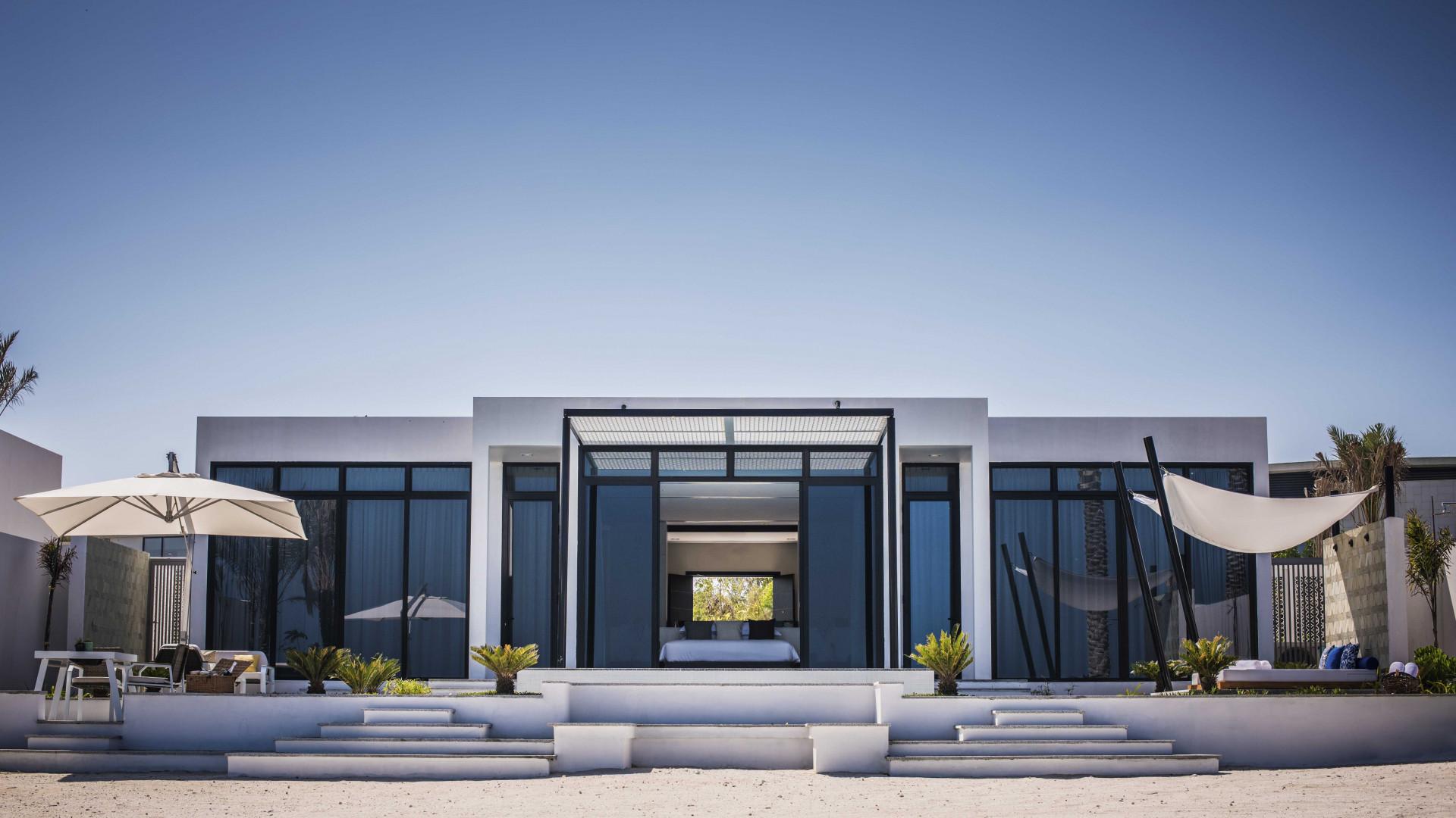 Exterior of Zaya Nurai resort, Abu Dhabi, UAE