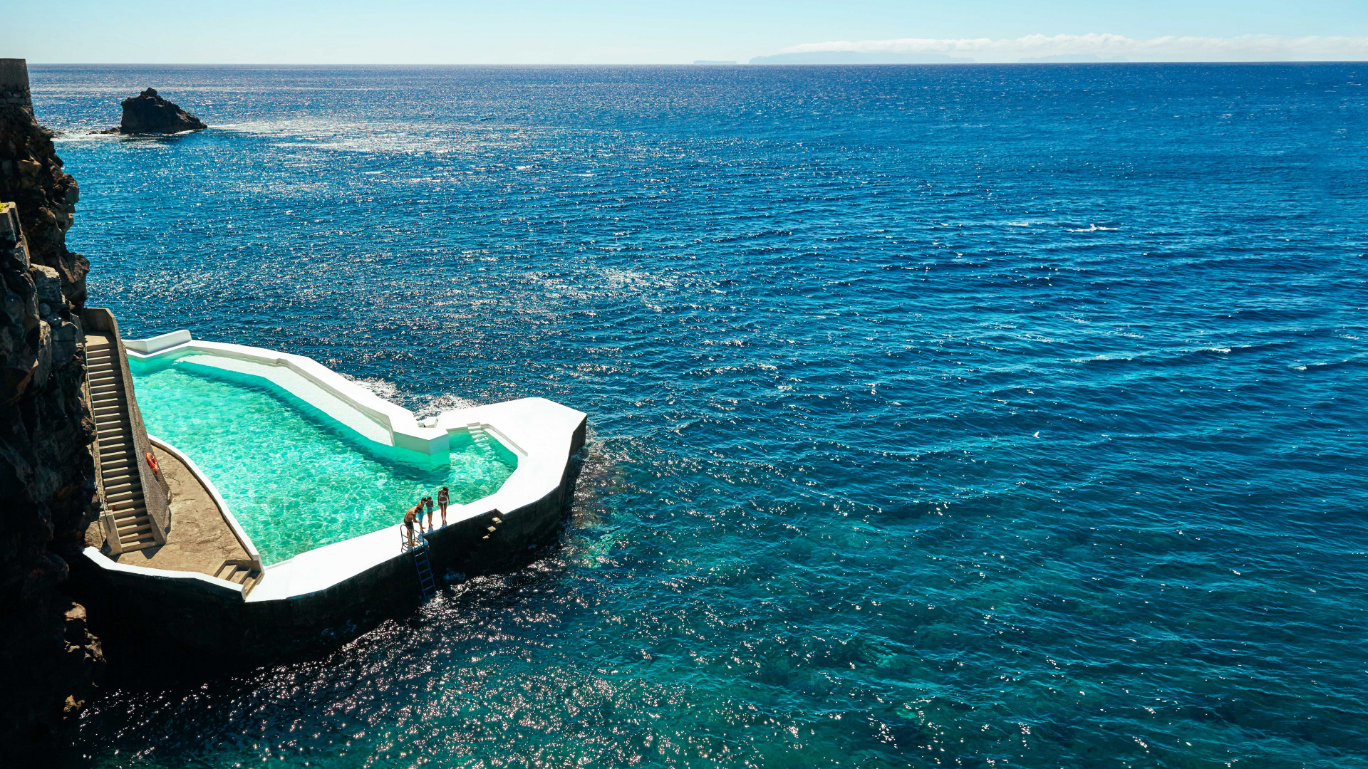 Seawater pool on the coast of Madeira, Portugal