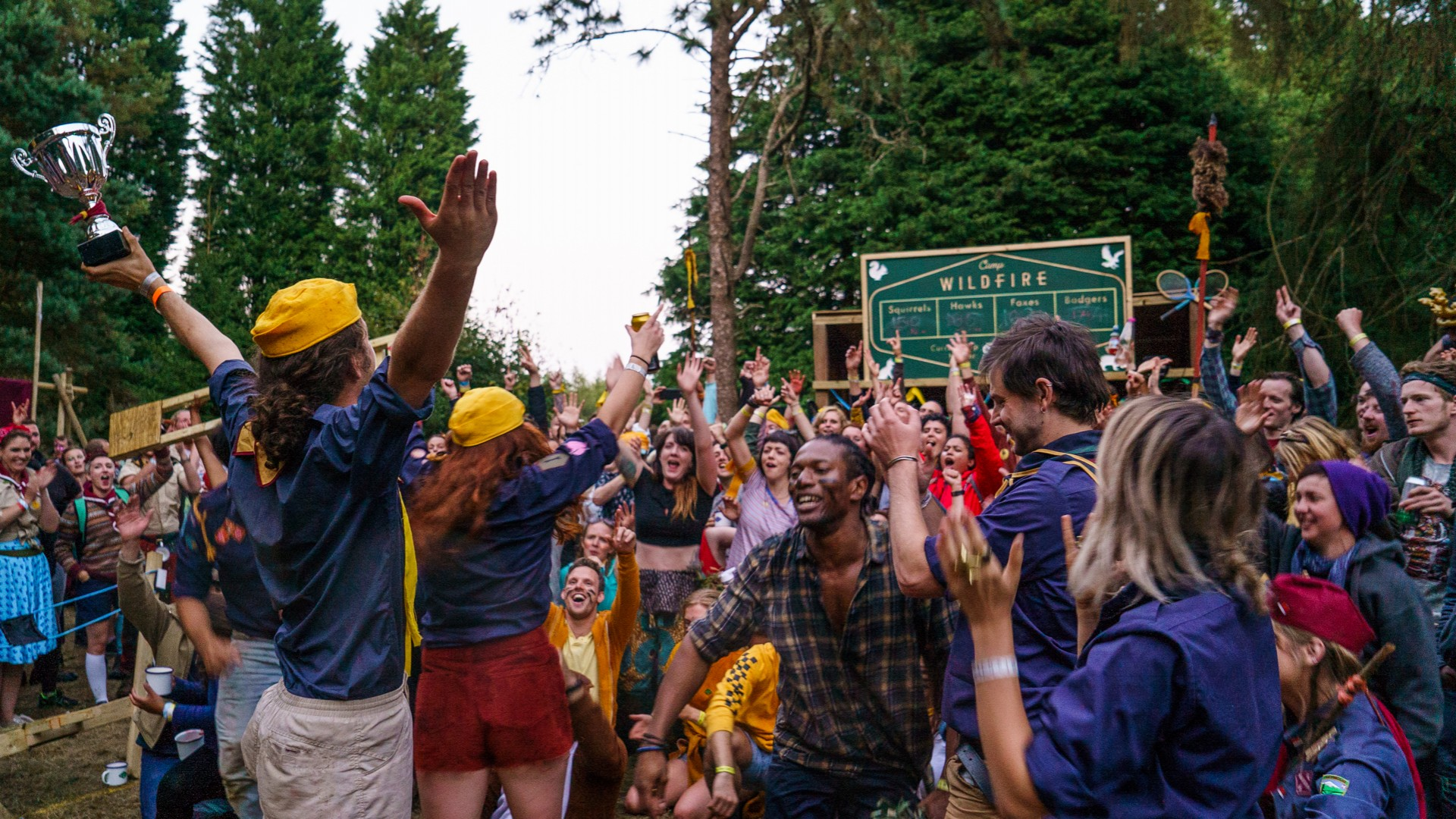 The victory ceremony at Camp Wildfire