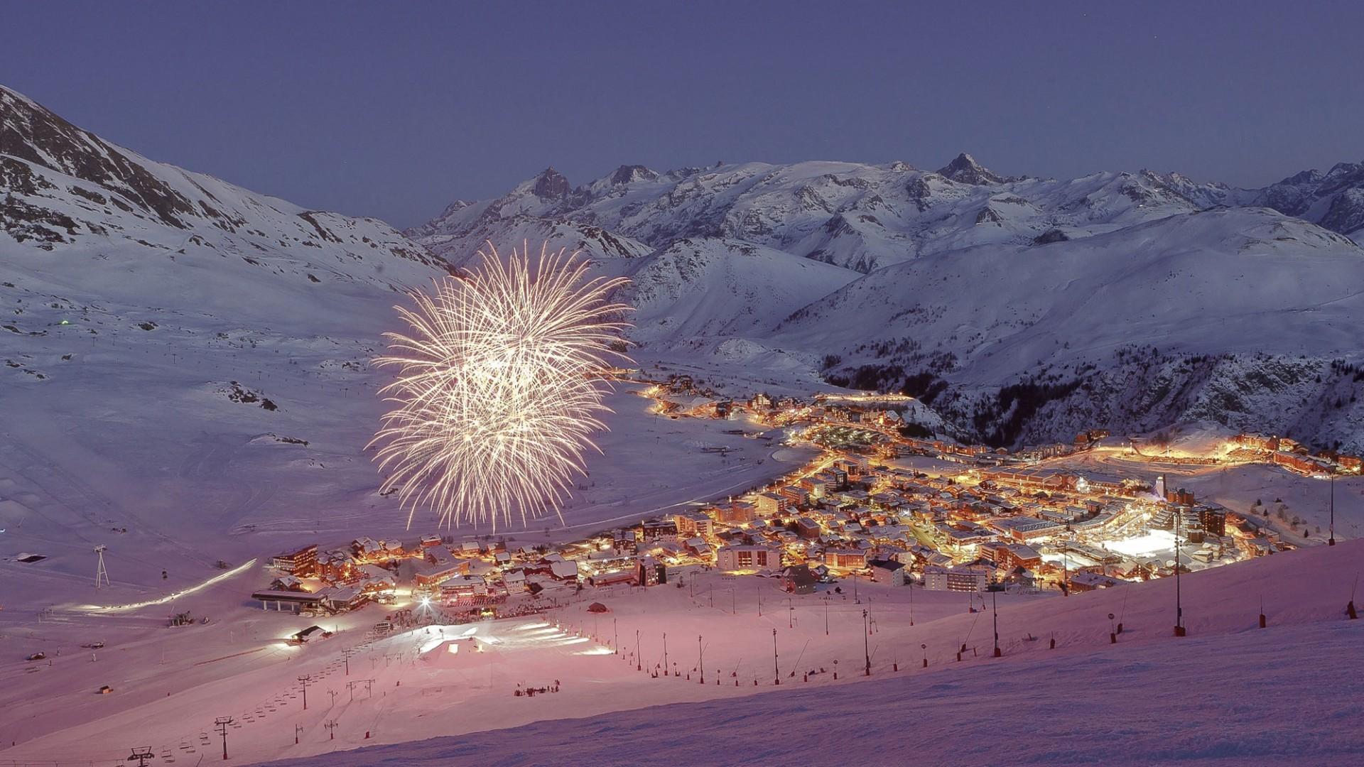 Fireworks in Alpe D'Huez, France