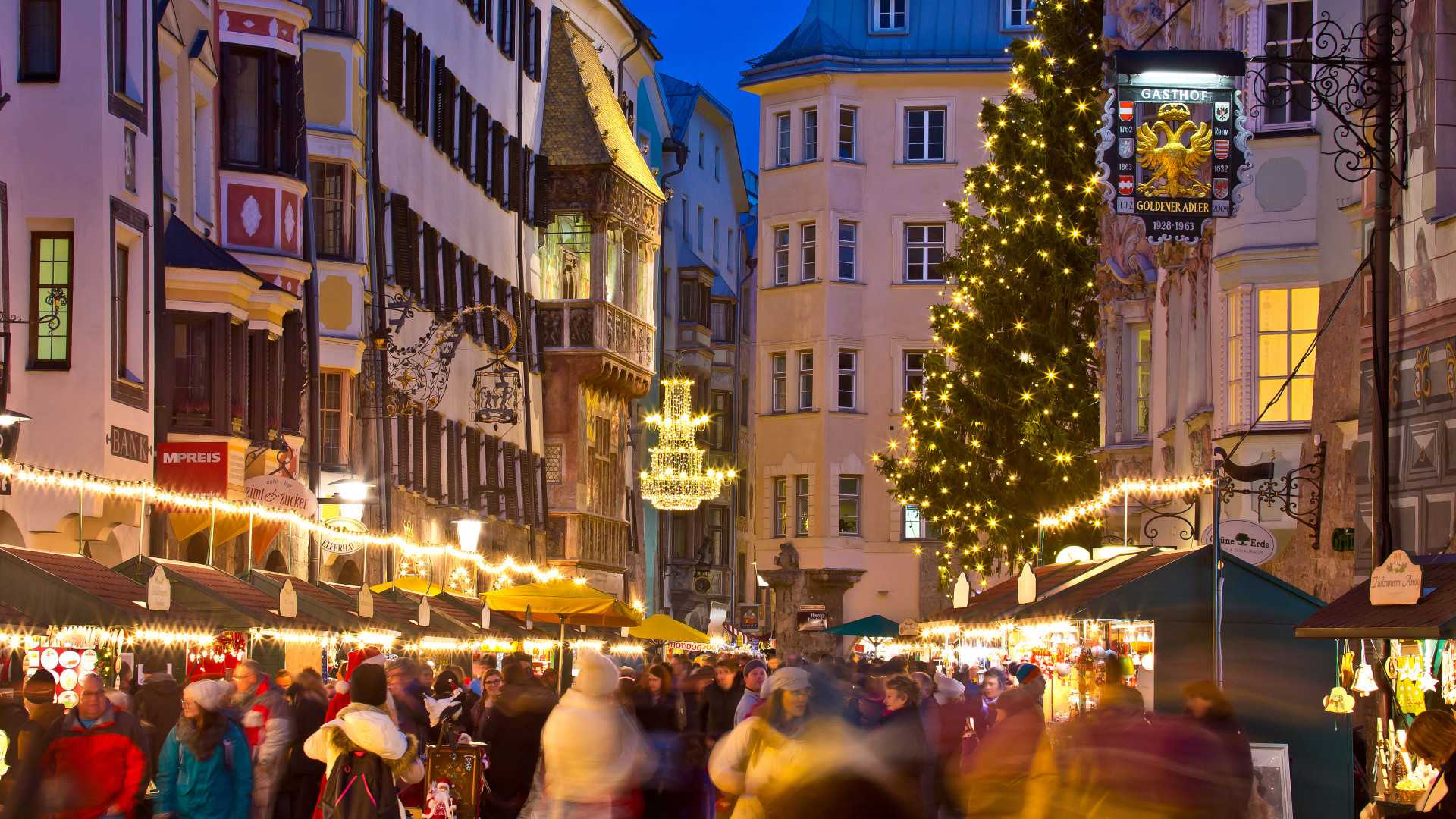 Innsbruck Christmas Market, Austria.