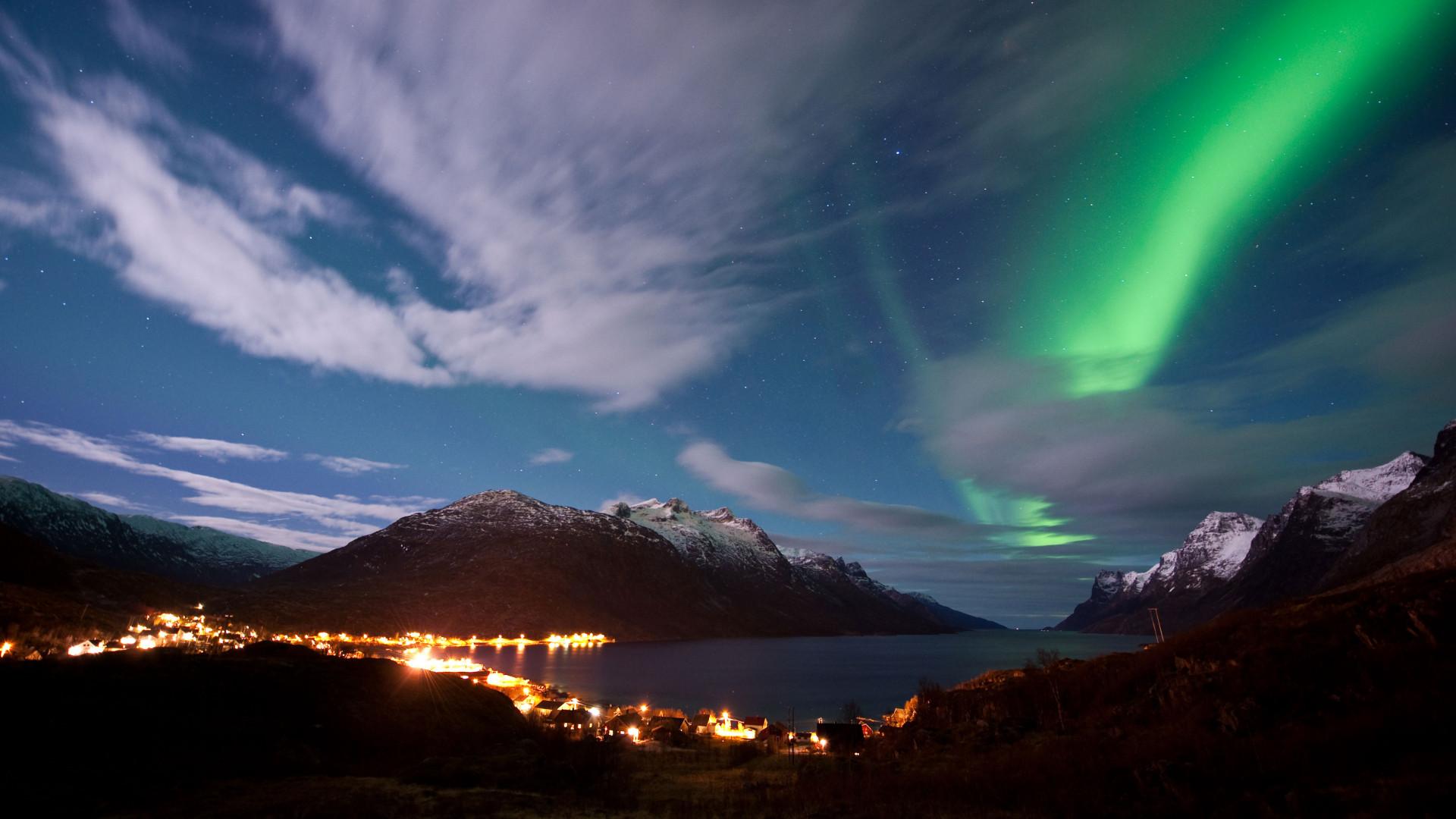Aurora Borealis above Tromsø in Norway