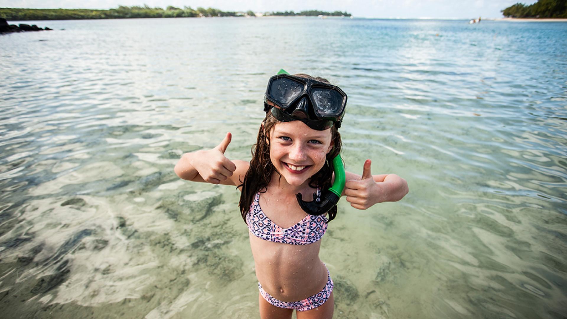 Snorkelling at Beachcomber
