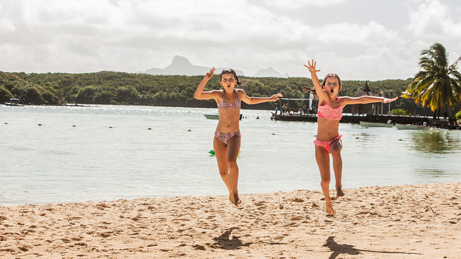 Kids on the beach at Beachcomber resorts