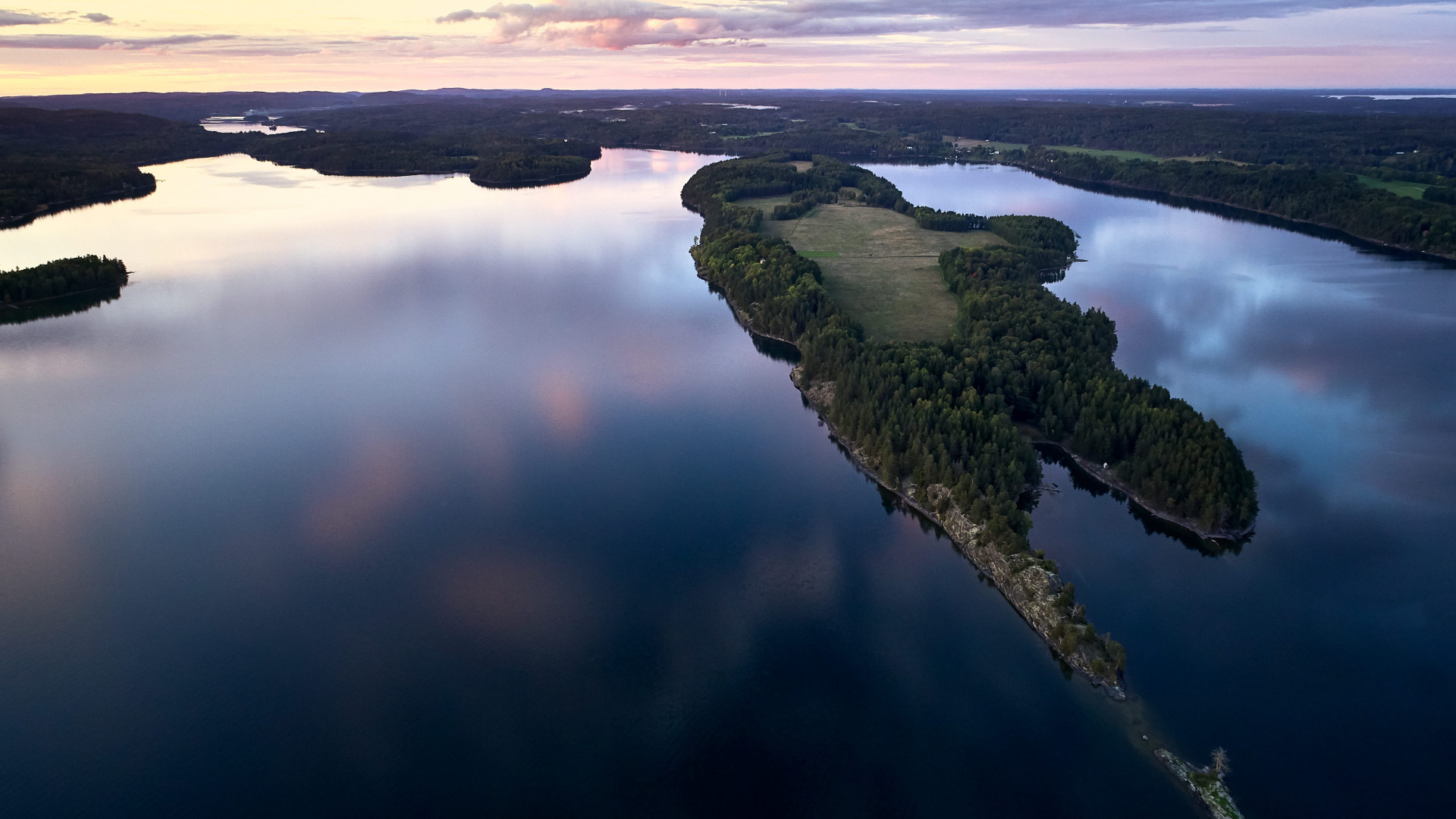 Henriksholm island from above