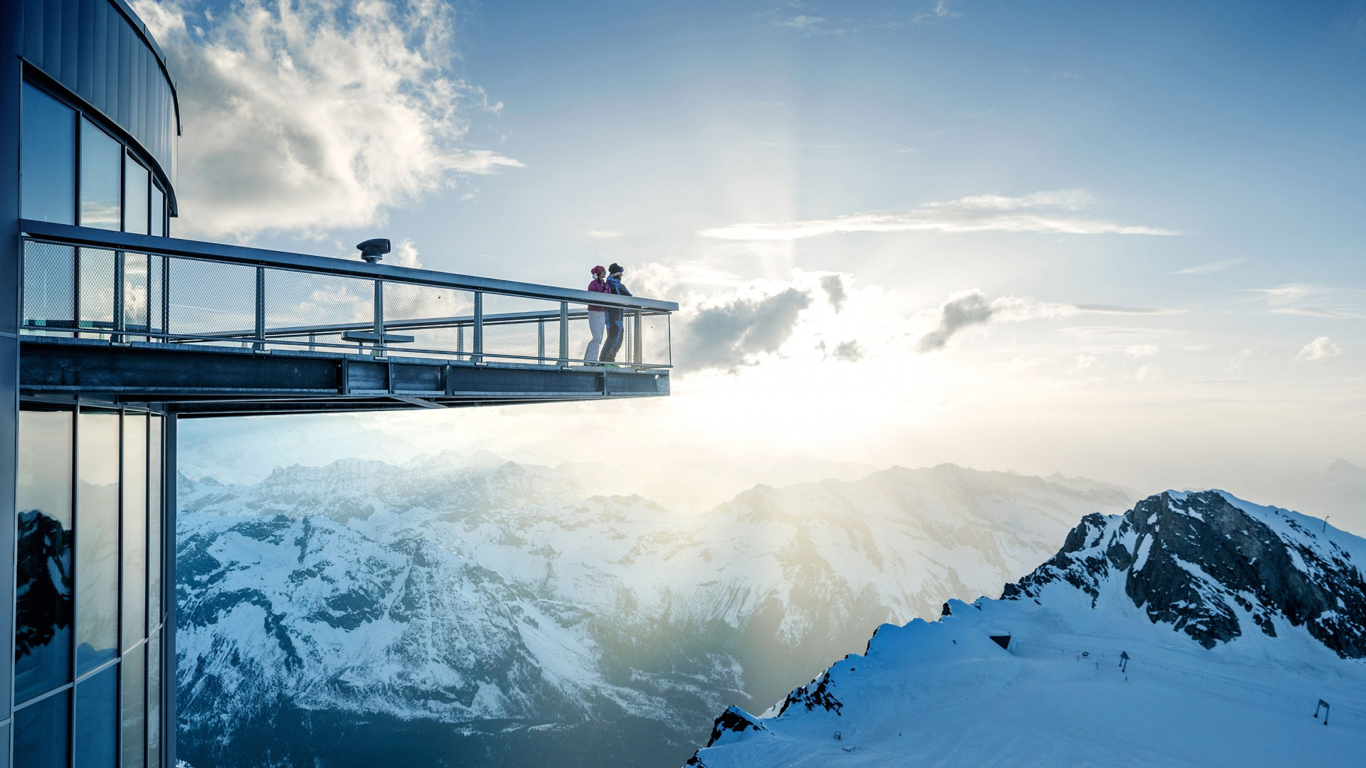 Viewing platform in Zell am See, Austria