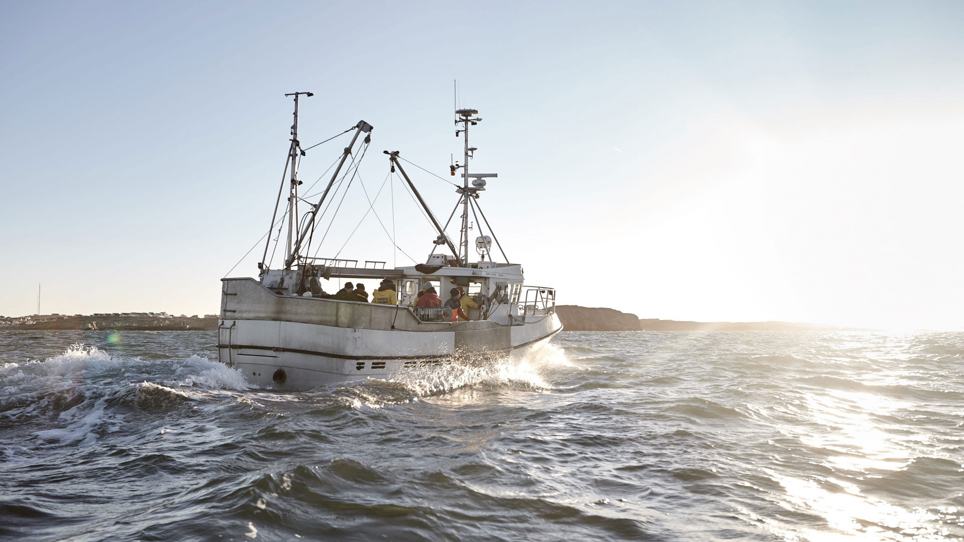 Fishing boat at West Sweden's Weather Islands