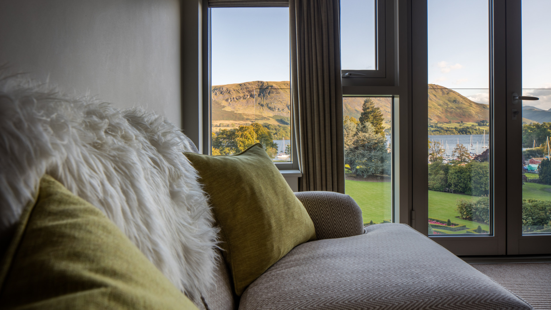 Room interior with fell view at Another Place – The Lake, Ullswater, Lake District
