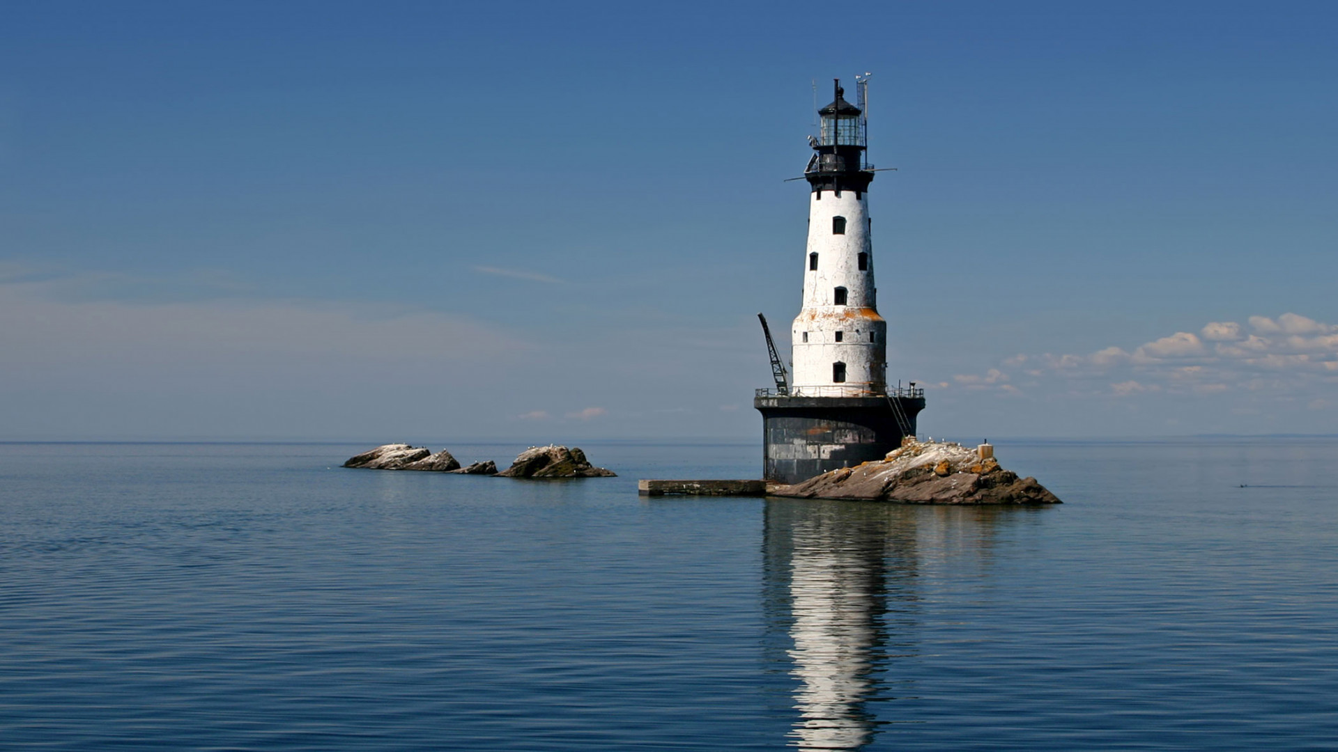 Lighthouse in Isle Royale National Park, USA
